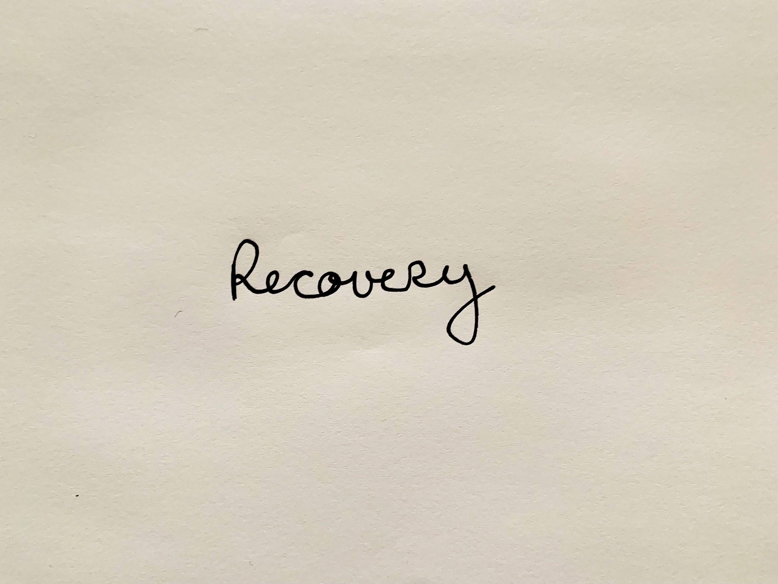 Recovery. Drawing Luke Hockley.