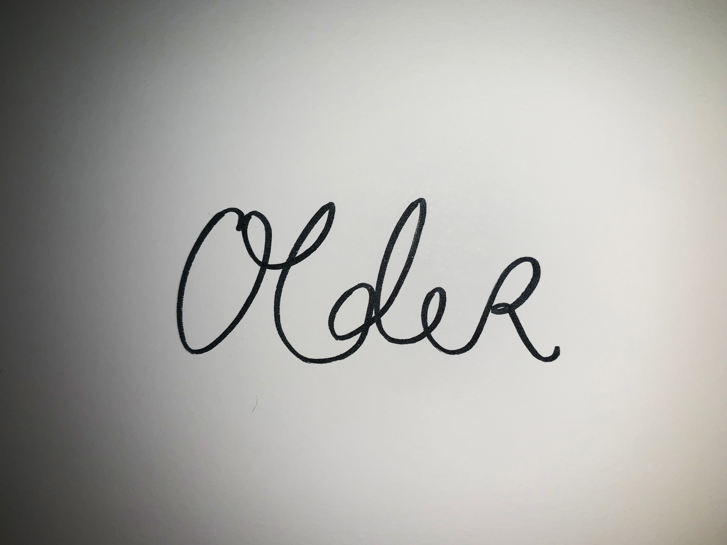 Older. Drawing Luke Hockley.