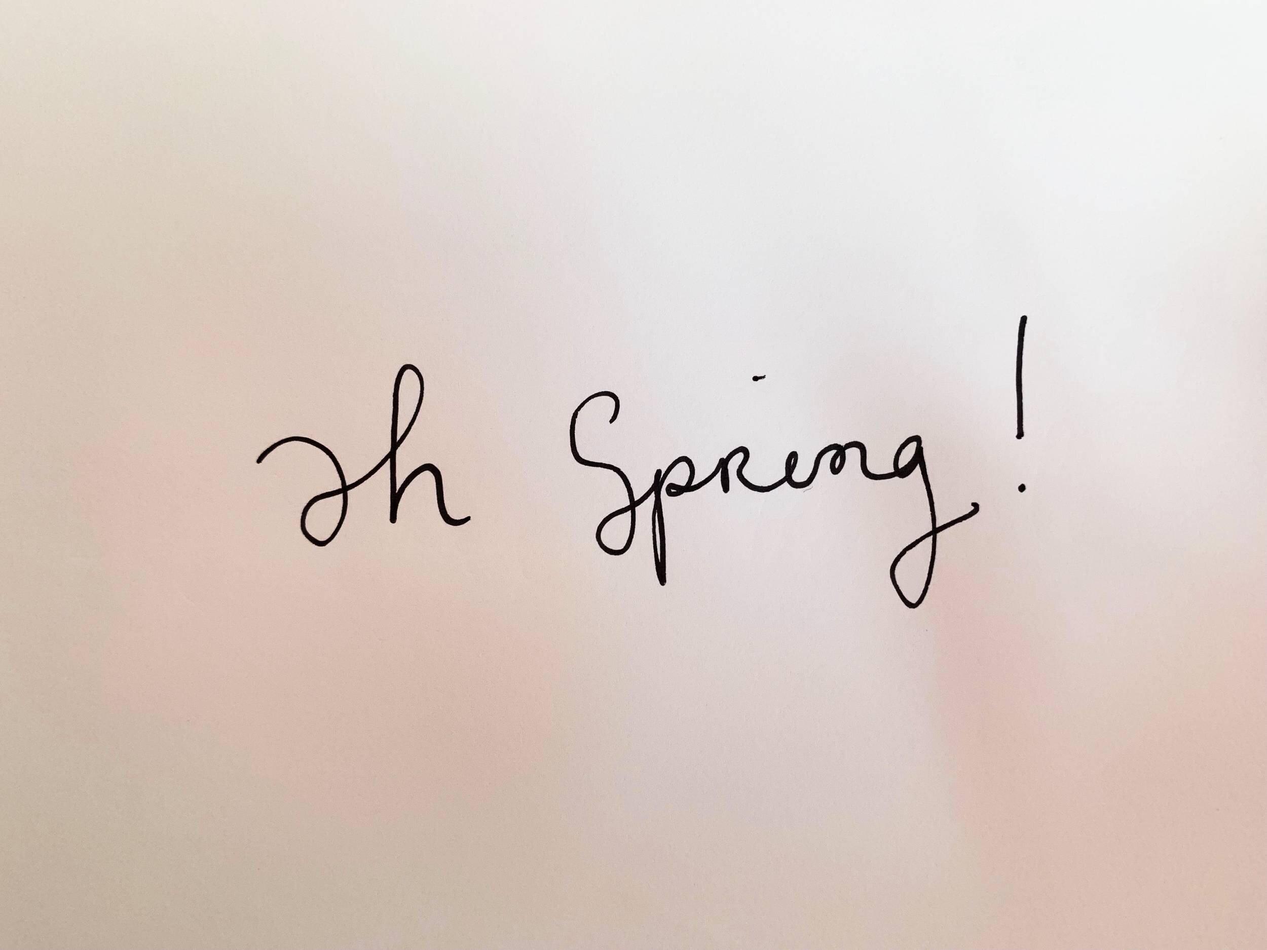 Ah spring! Drawing Luke Hockley.
