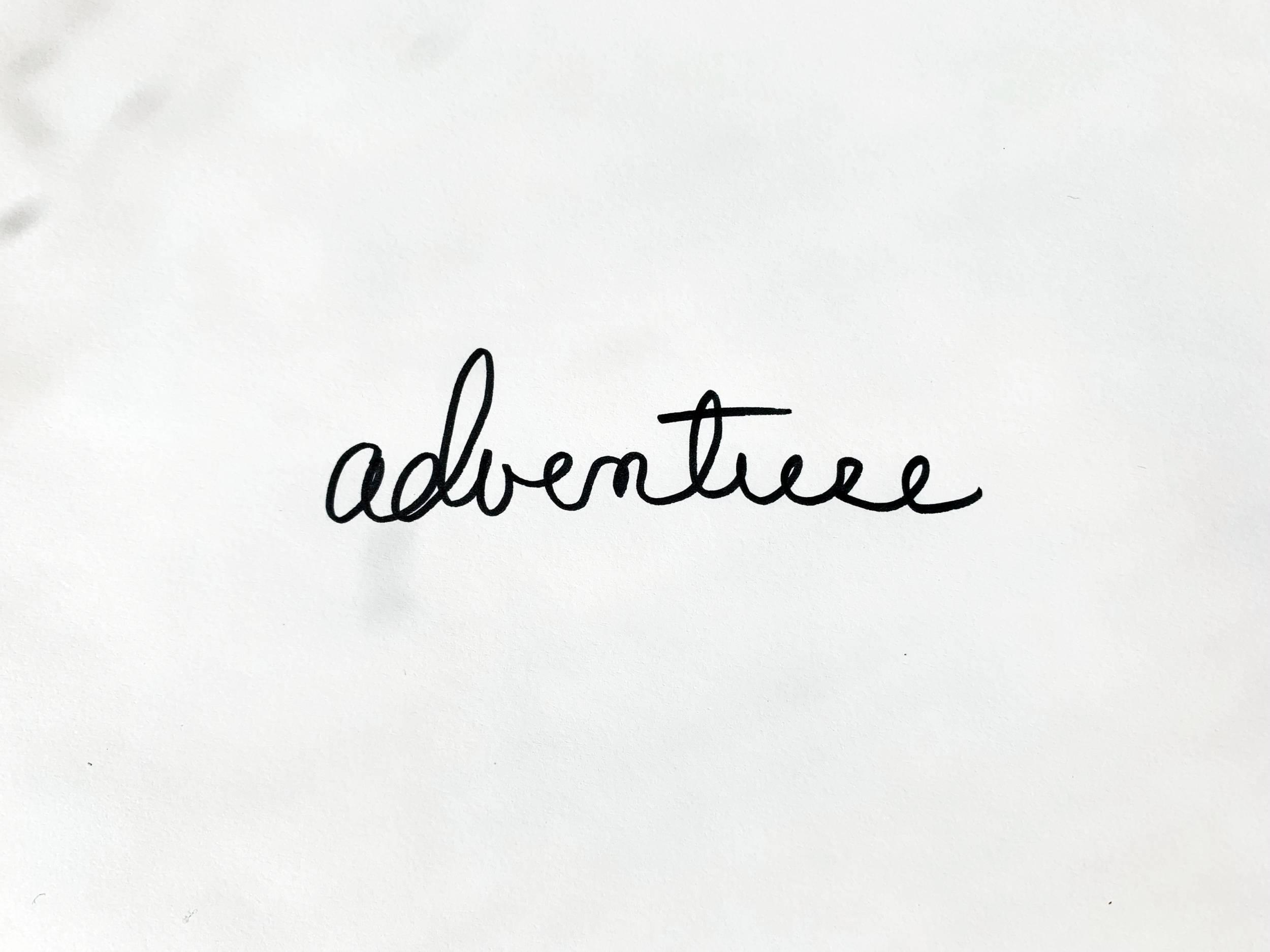 Adventure. Drawing Luke Hockley.