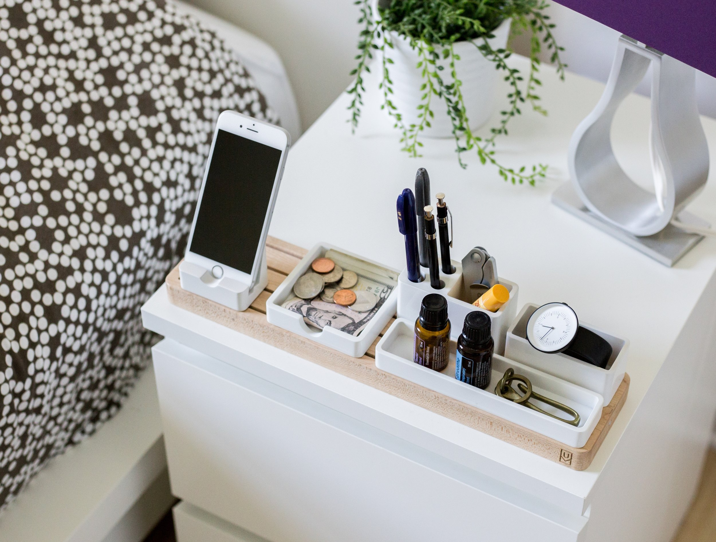 One place that often collects clutter is your nightstand. Take time and clean it up! Photo by Jeff Sheldon