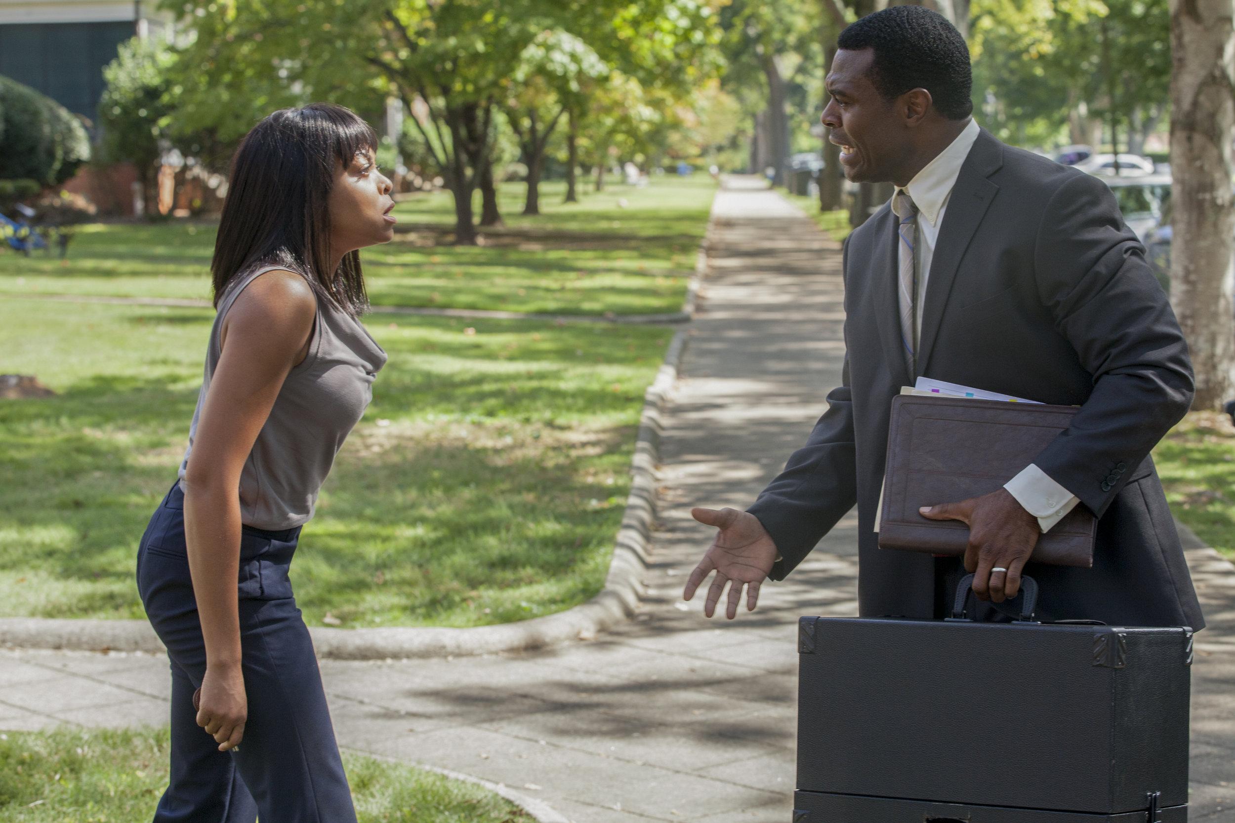"Taraji P. Henson as ""Melinda"" and Lyriq Bent as ""Robert"" in ACRIMONY."