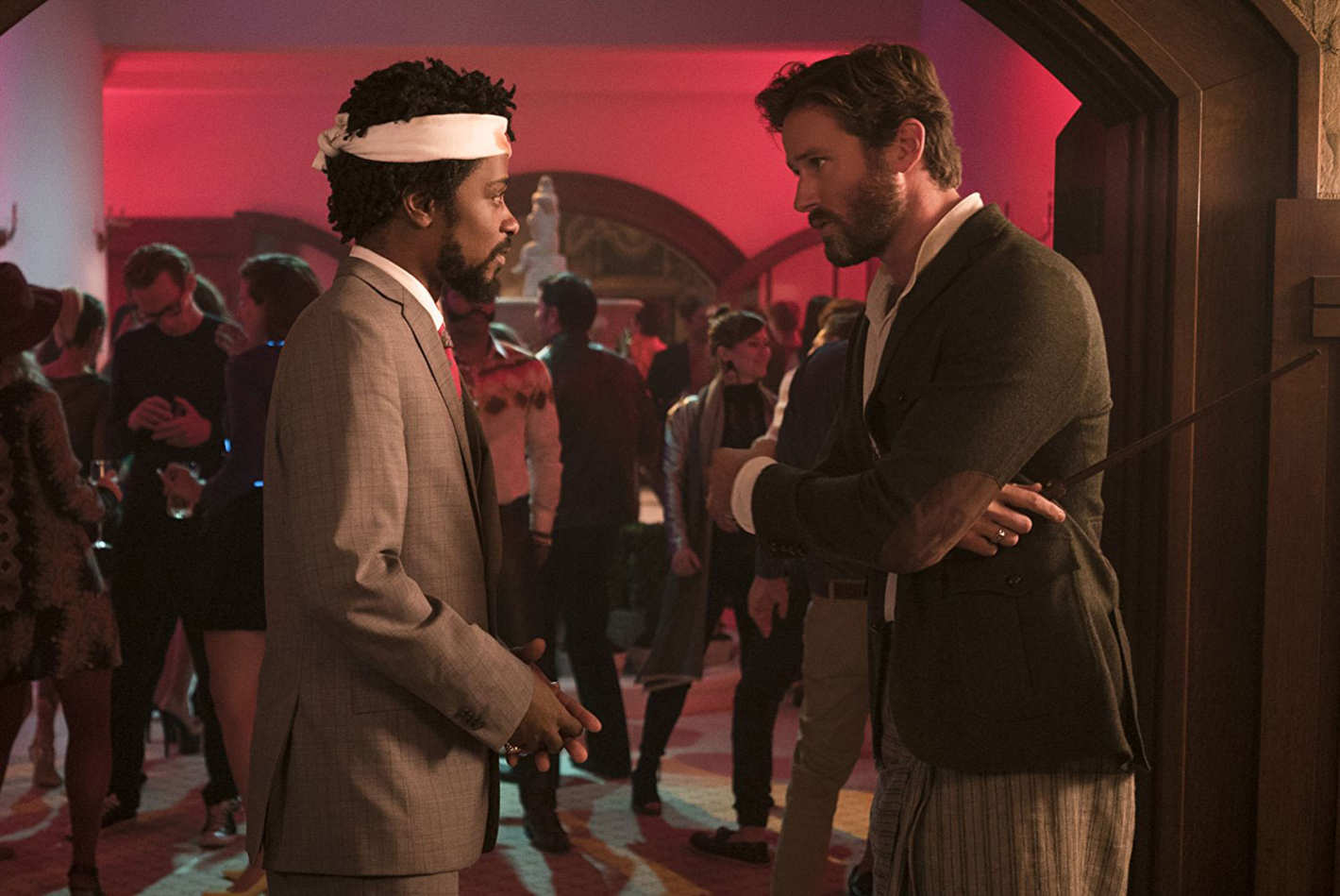 Lakeith Stanfield and Armie Hammer.