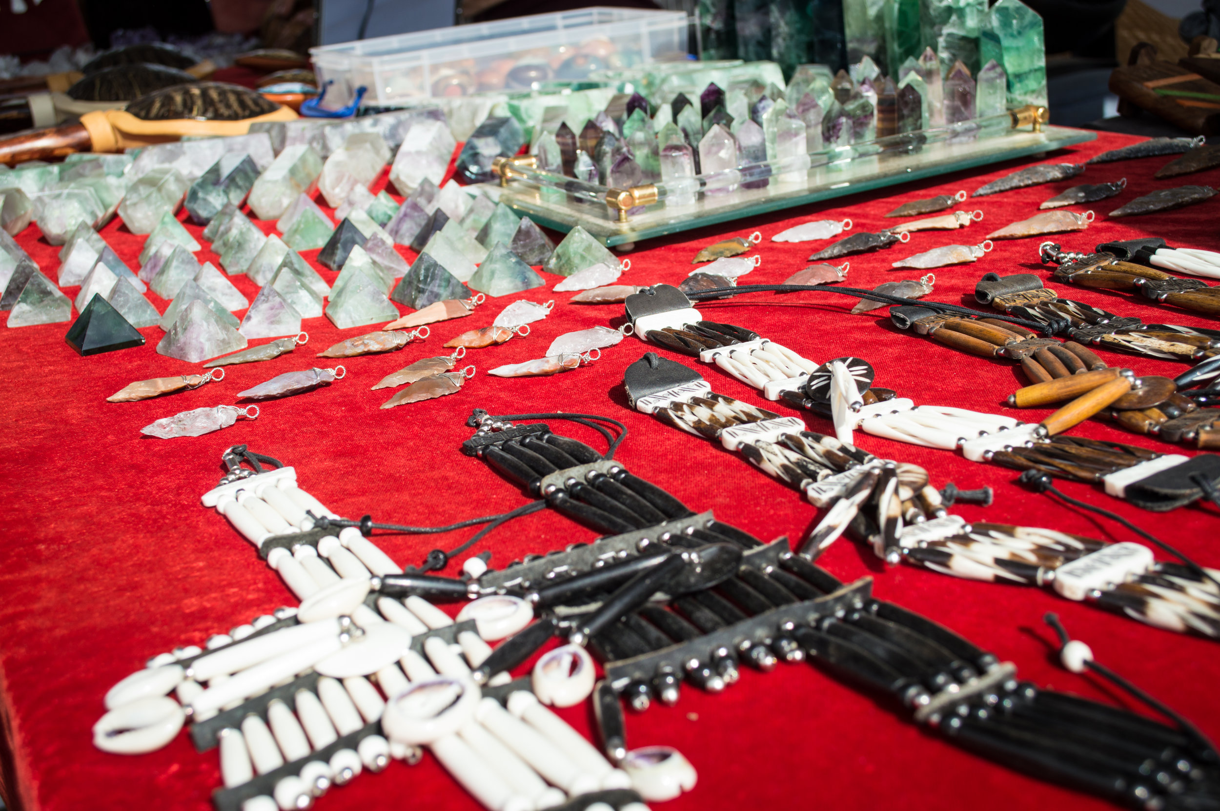 Items for sale from a vendor at Waterlook Music Fest. Photo by Nick Bailey