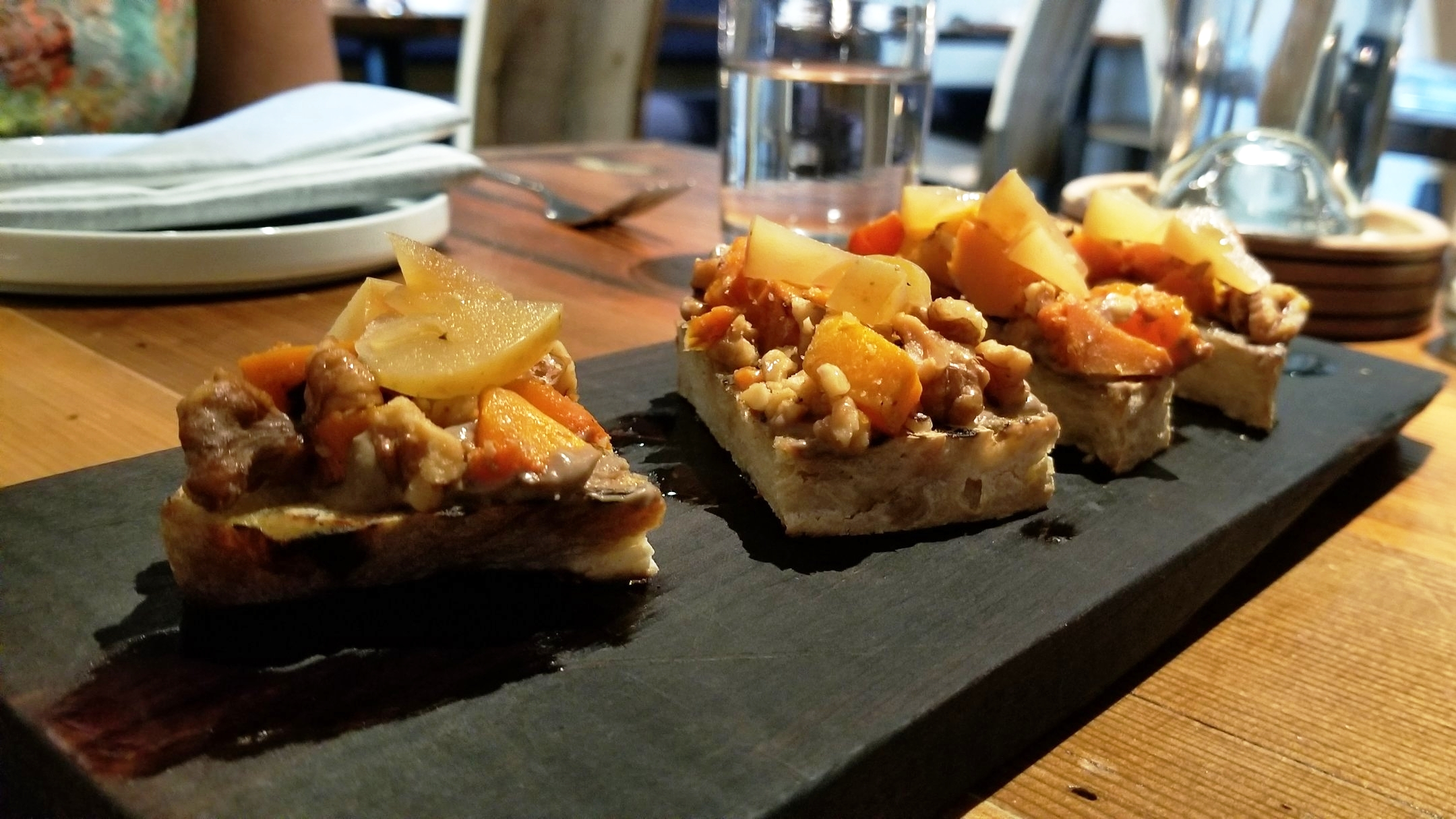 The sourdough bruschetta is a great way to start off the meal. Photo by Nick Bailey