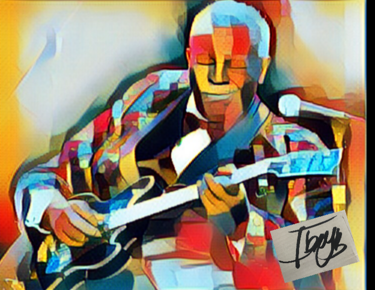 A print of B.B. King by IBEYB. Courtesy photo