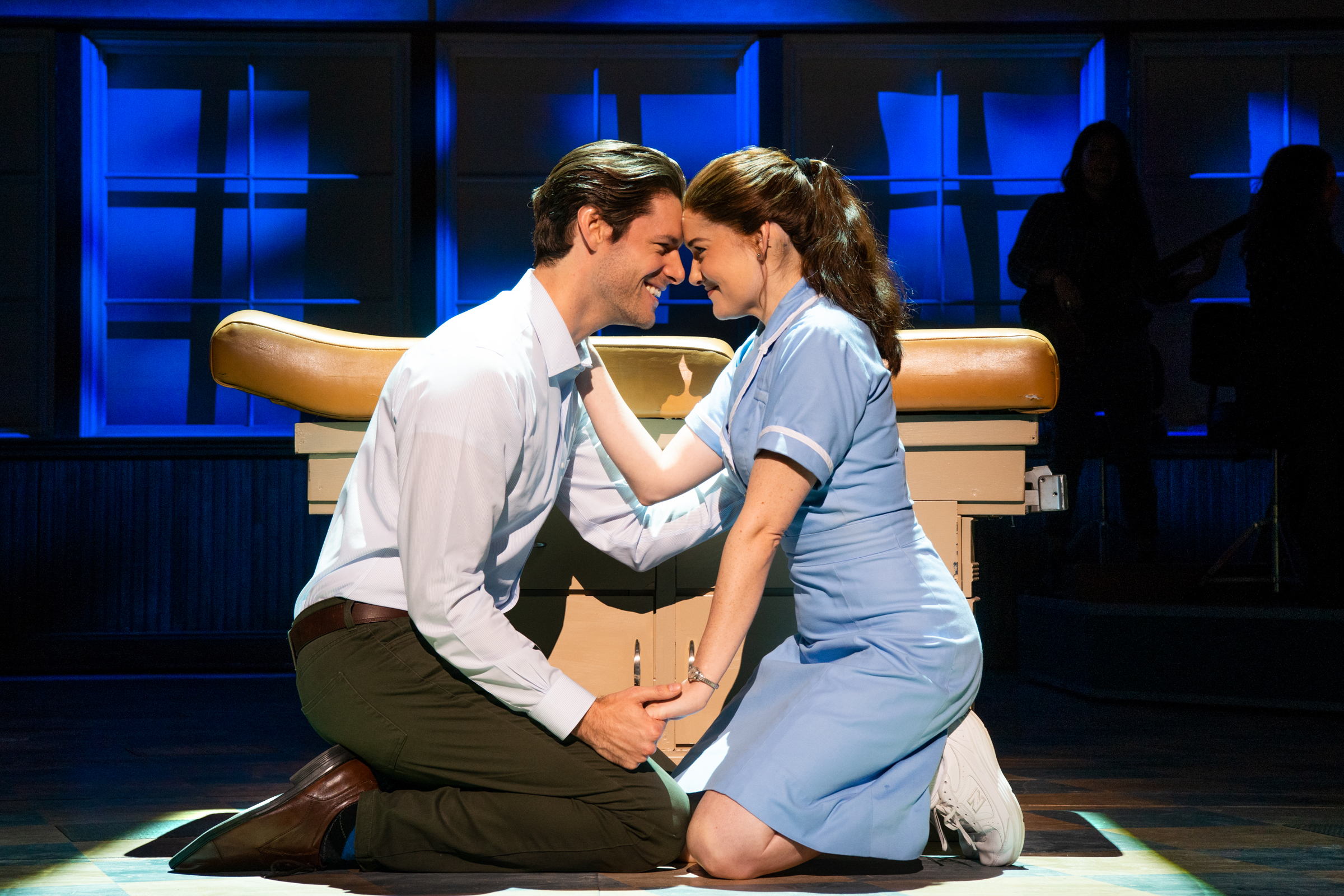Steven Good and Christine Dwyer in the national tour of Waitress. Photo by Philicia Endelman