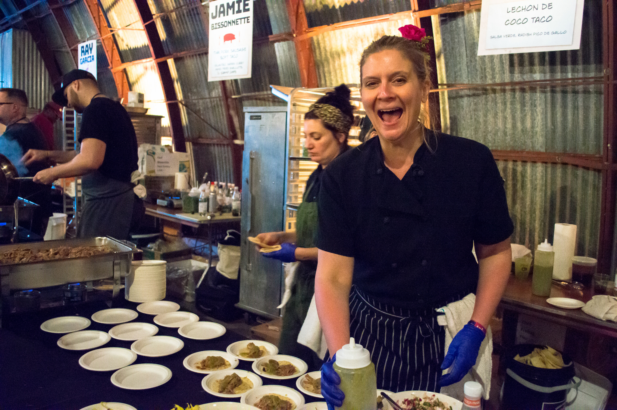 Acclaimed chef and Food Network star Amanda Freitag at last year's Rock Your Taco. Photo by Nick Bailey