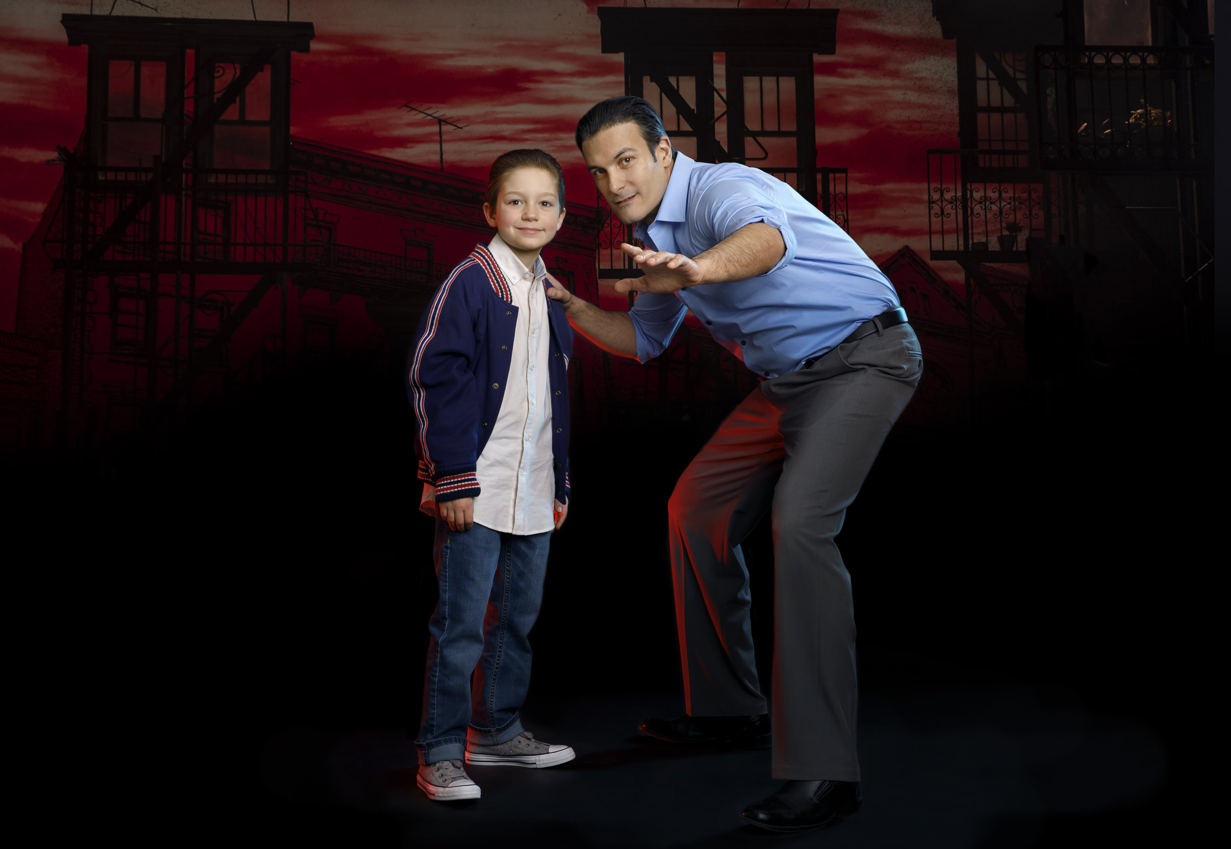 Young Calogero and Sonny - A BRONX TALE - photo by Joan Marcus.jpg