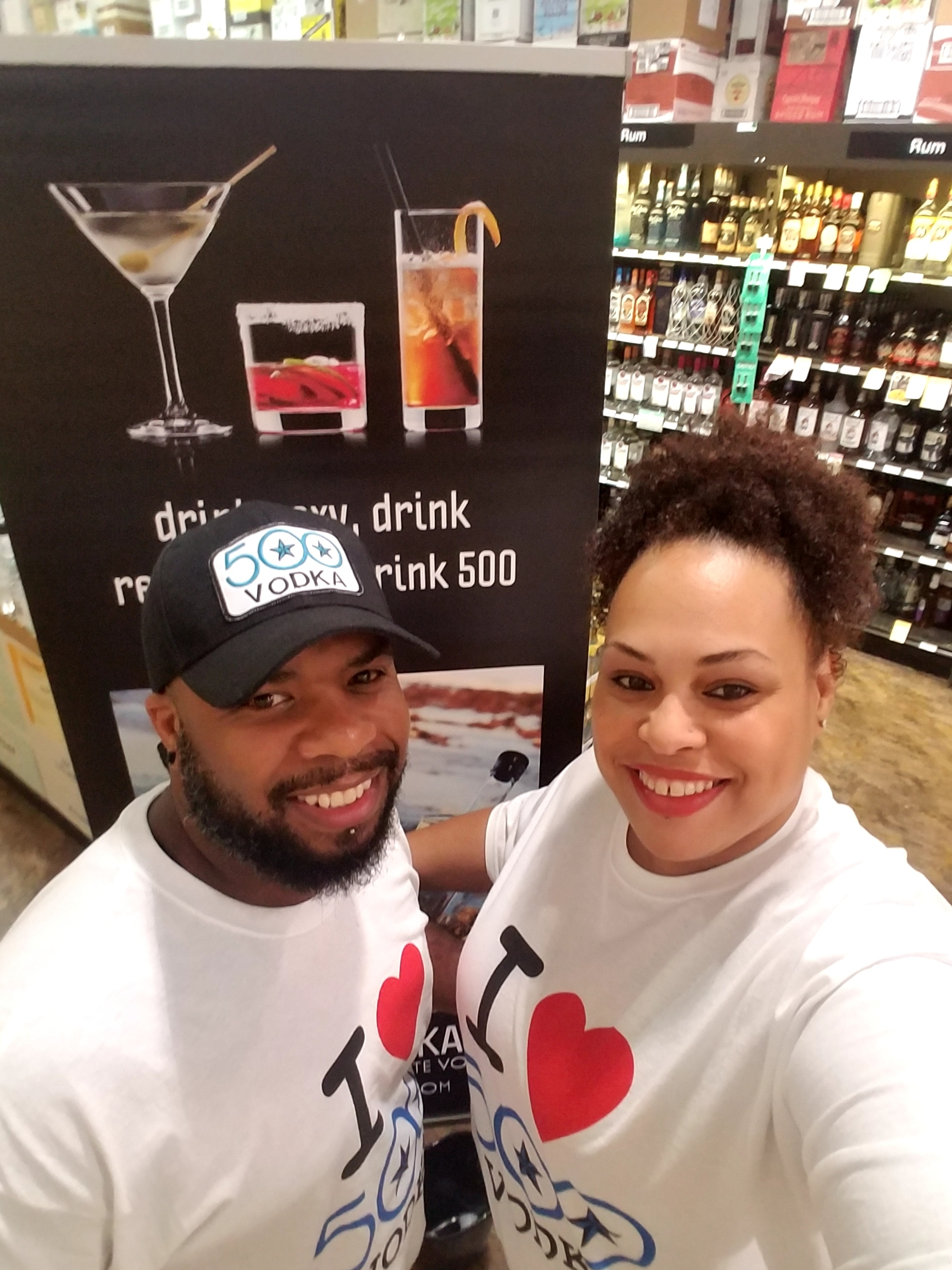 Kyle and Lateya Smith promoting 500 Vodka. Courtesy photos