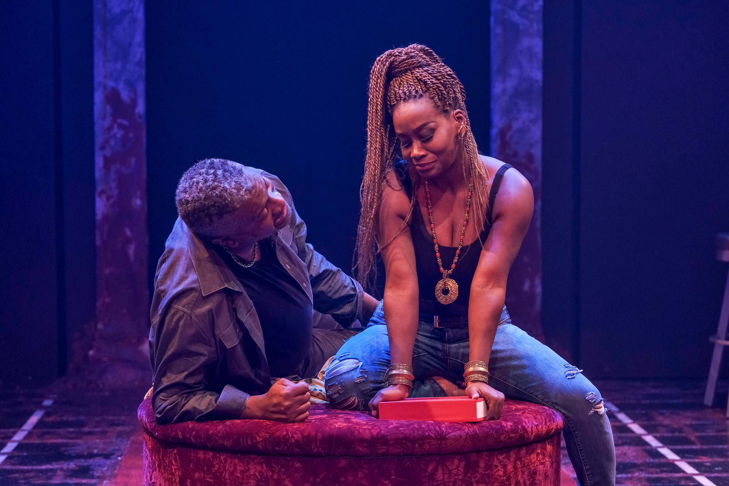 Roderick Sanford and CHANEL in The Ballad of Klook and Vinette at ZACH Theatre. Photo by Kirk Tuck