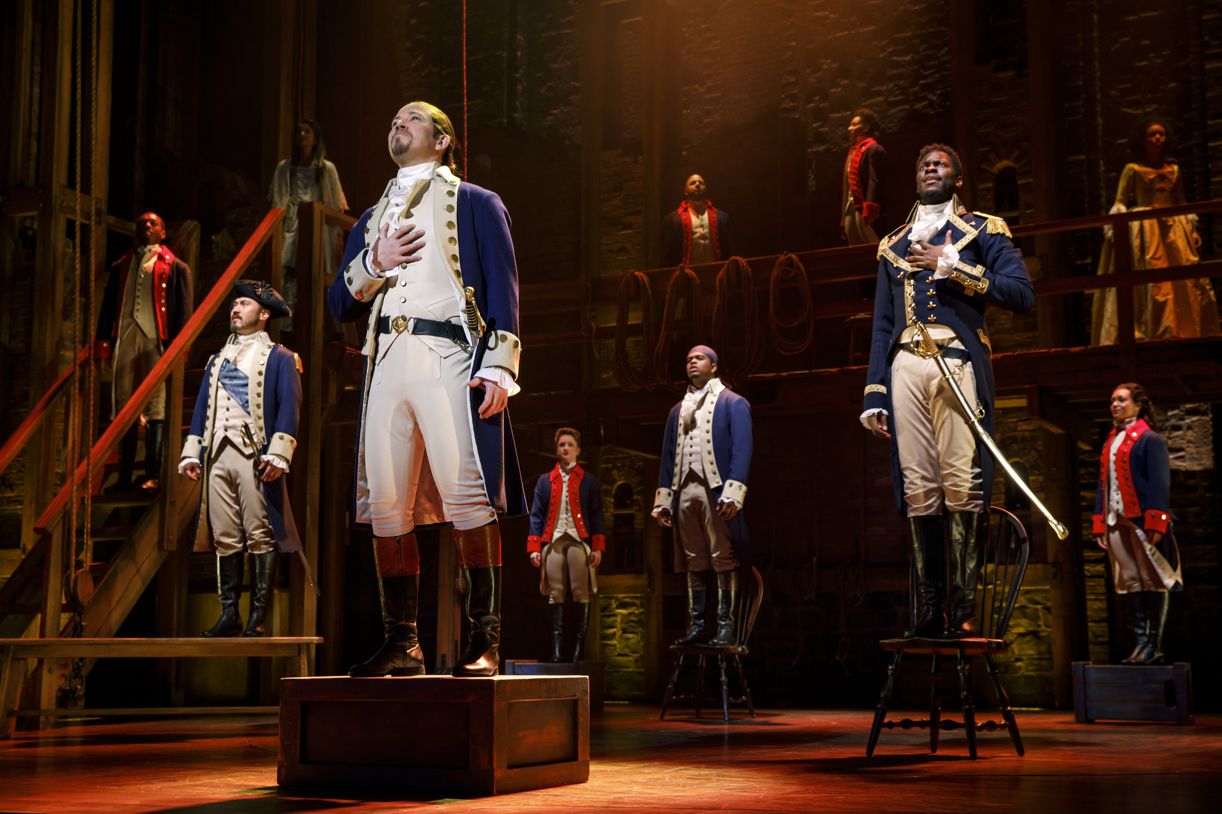 "Joseph Morales and Company in ""HAMILTON"" National Tour. Photos by Joan Marcus"