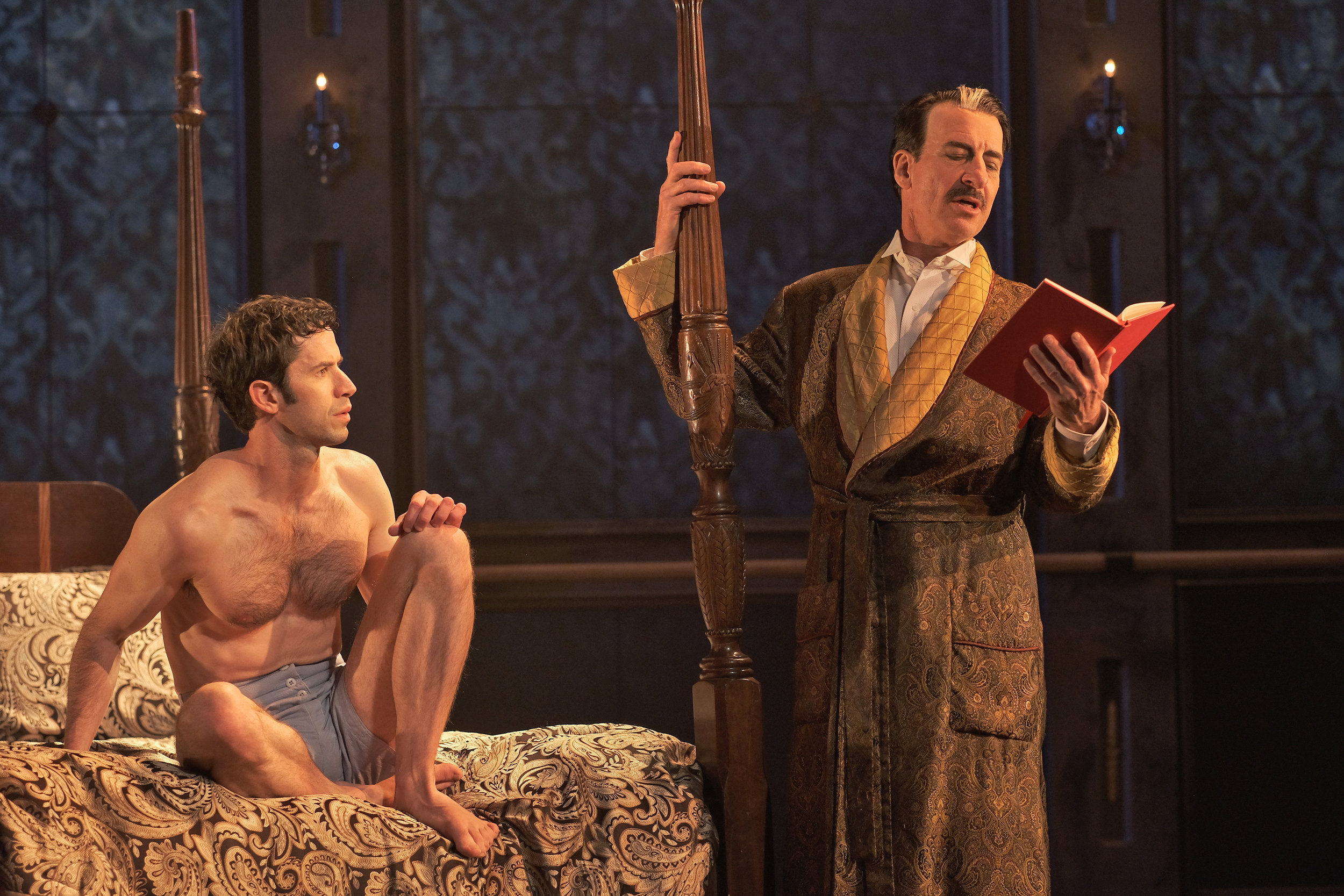 (L to R) Wyatt Fenner and Steven Epp in Immortal Longings at ZACH Theatre. Photo by Kirk Tuck