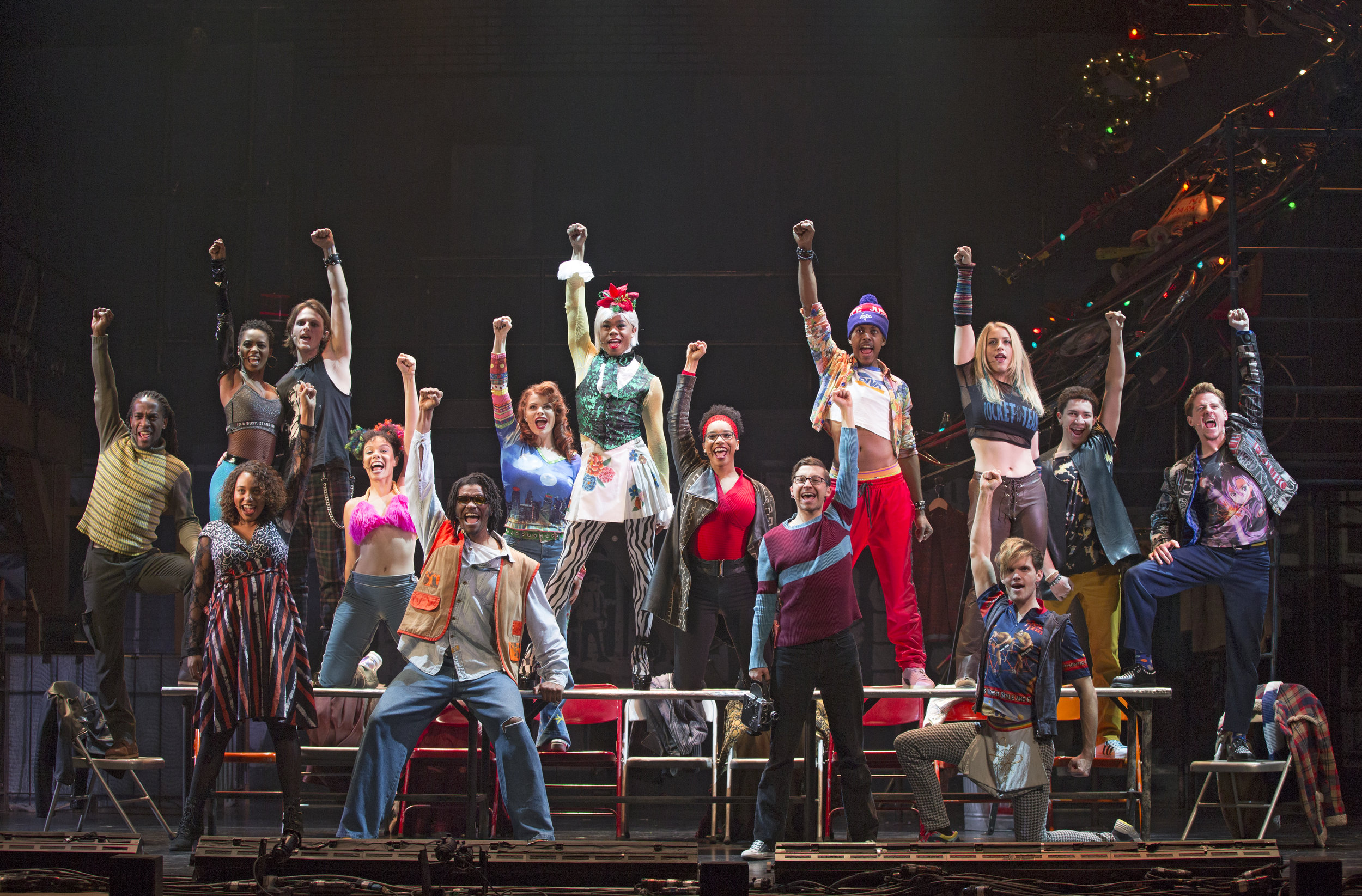 The Company of the RENT 20th Anniversary Tour. Photo by Carol Rosegg
