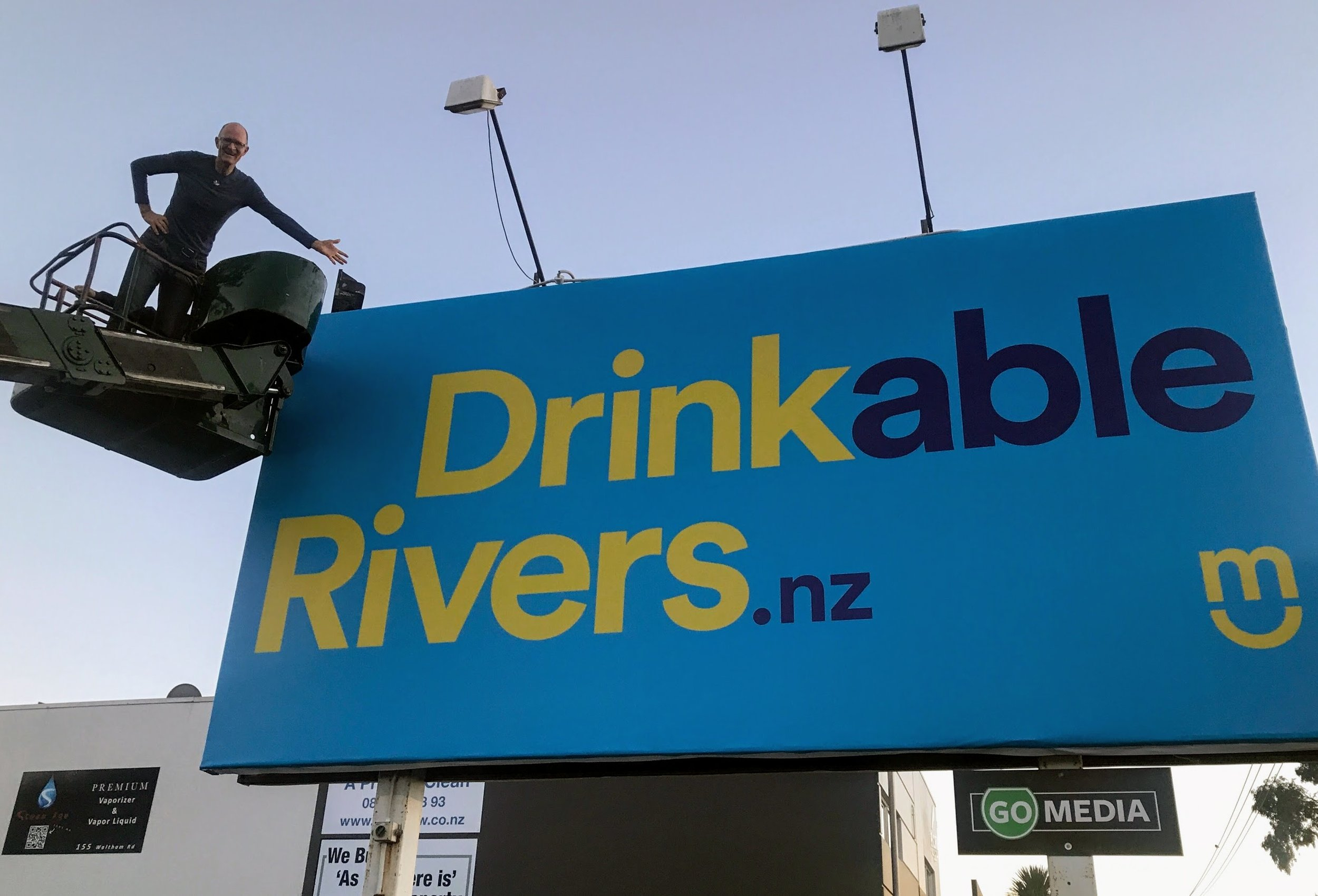 Aug 7th - Four billboards go up across Christchurch, and two in Wellington.