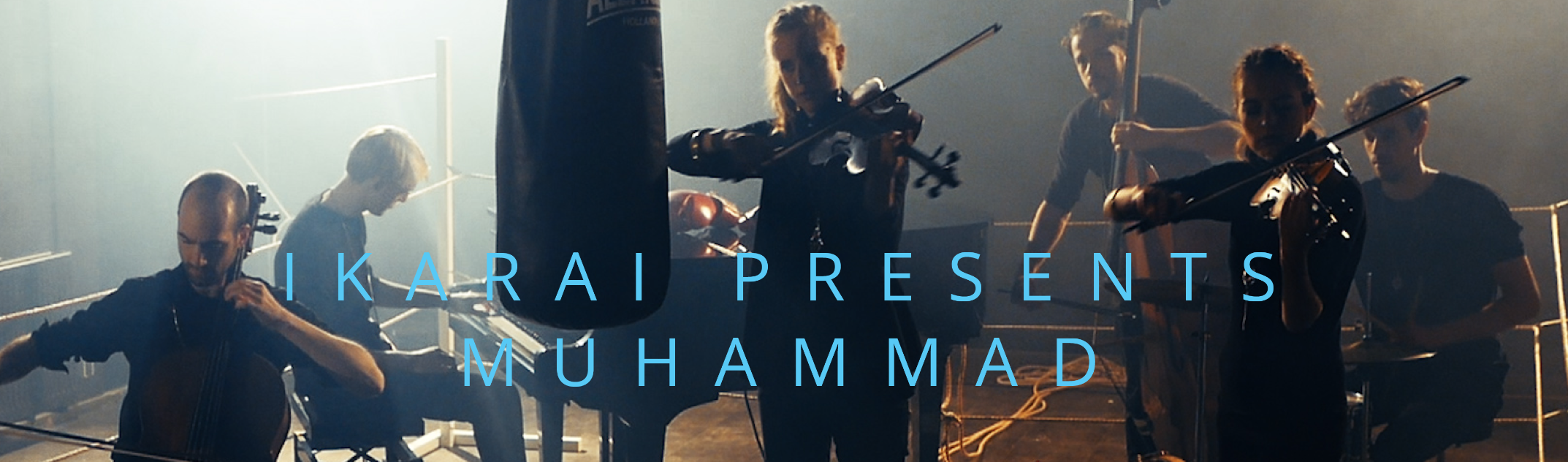 Muhammad - Ikarai presents a new programwith original music set up on the story of Muhammad Ali.The legendary fight, the dance of the century, The Rumble in the Jungle, finally set to music. A thrilling evening full of recollections, speeches and poems by the fighter. Expected to play from early 2018 throughout the year. Available upon request.