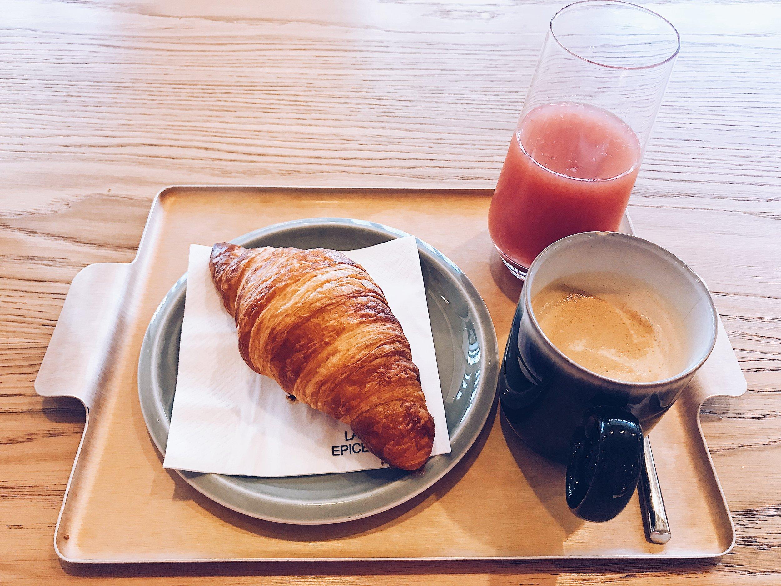 Petit dejeuner Grande epicerie Paris Passy