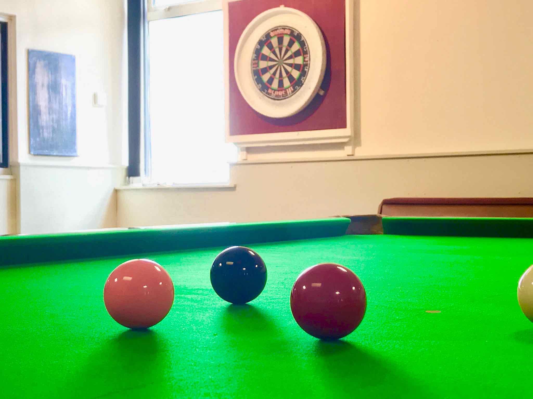 Gwersyllt Sports & Social Club Snooker Table and Darts Board