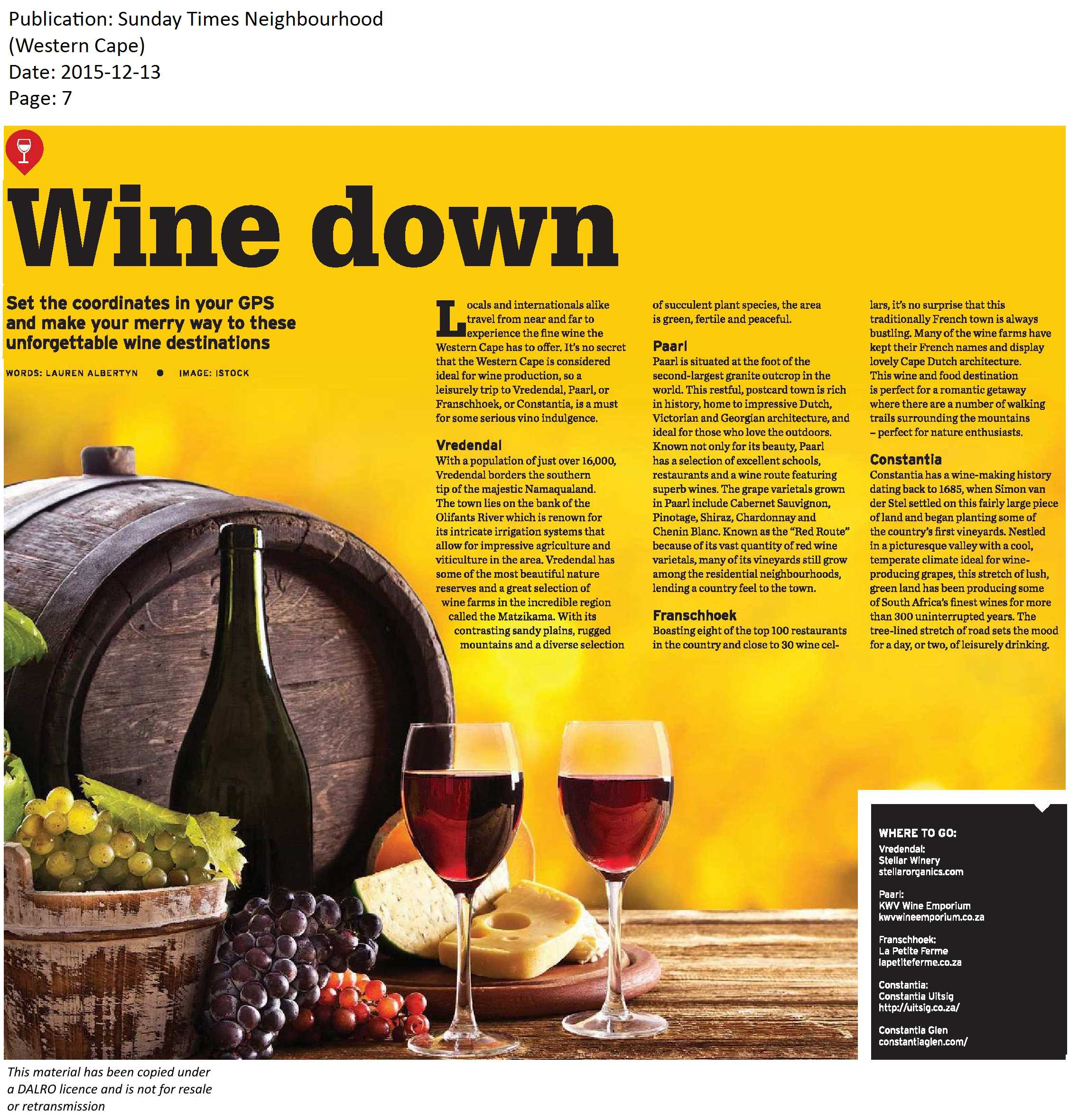 Sunday Times Neighbourhood -