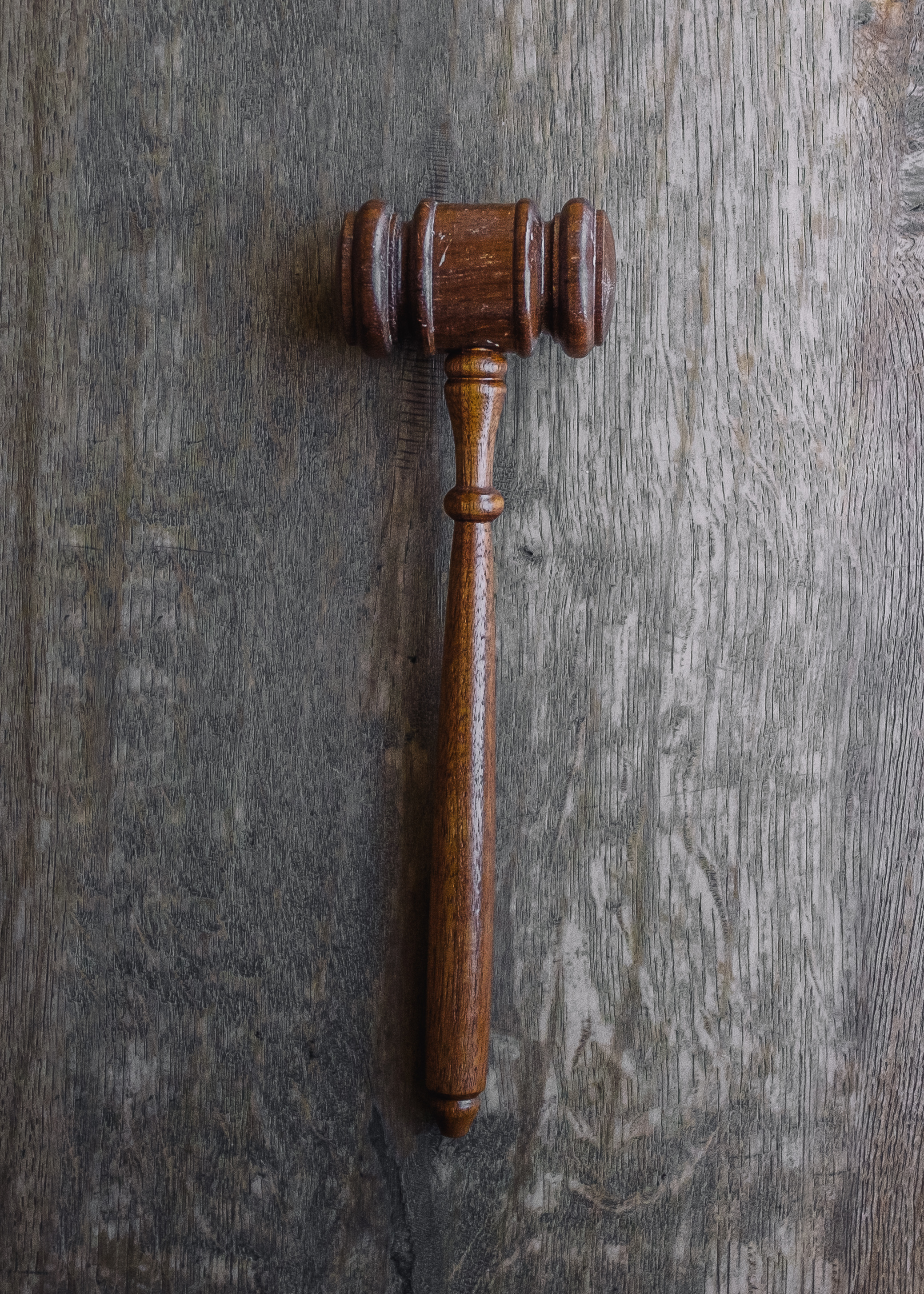 gavel on a desk