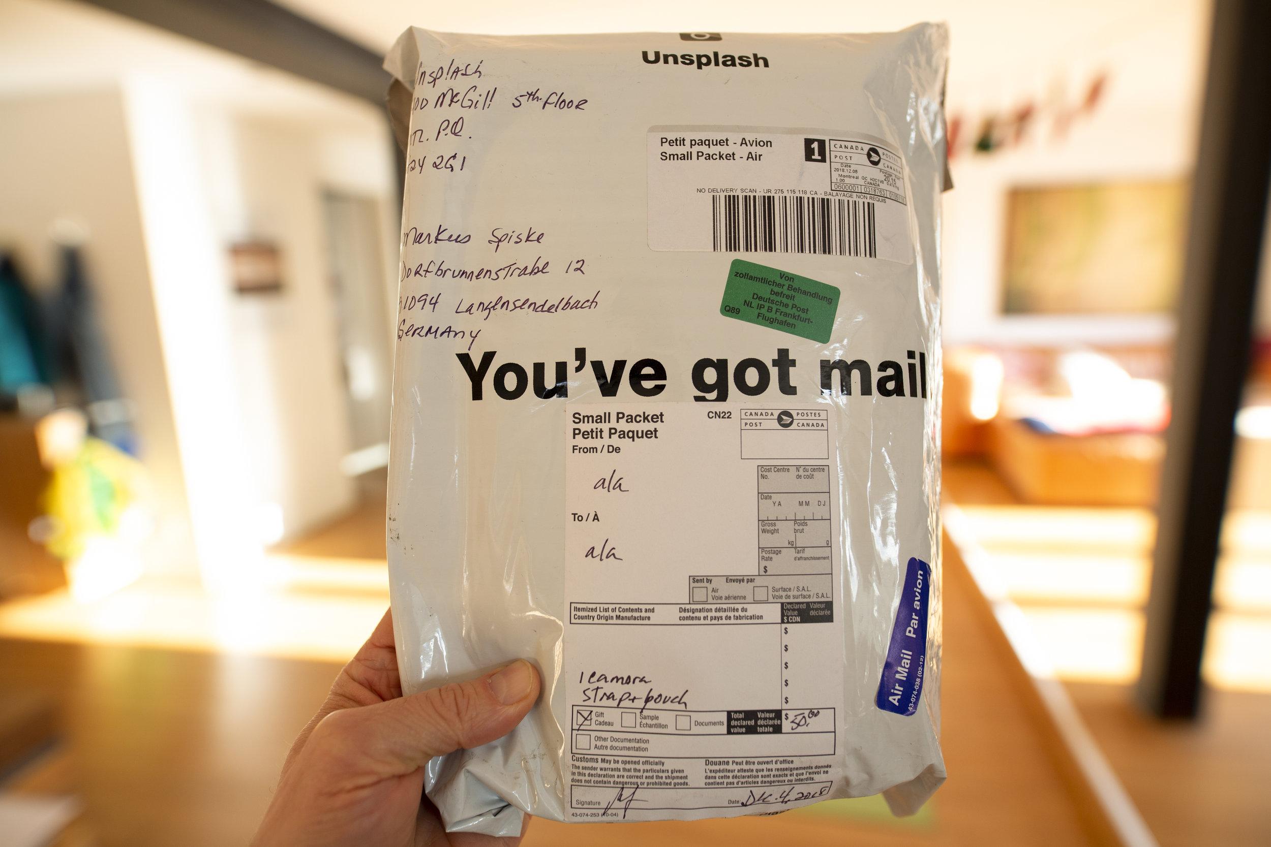 parcel 'you've got mail'