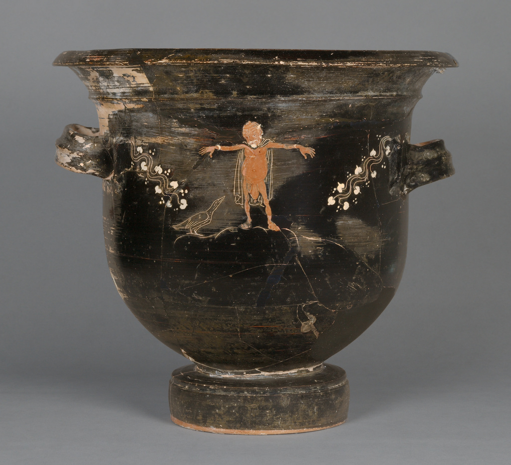 Gnathian Bell Krater, Attributed to Konnakis Painter, about 360 - 350 B.C.