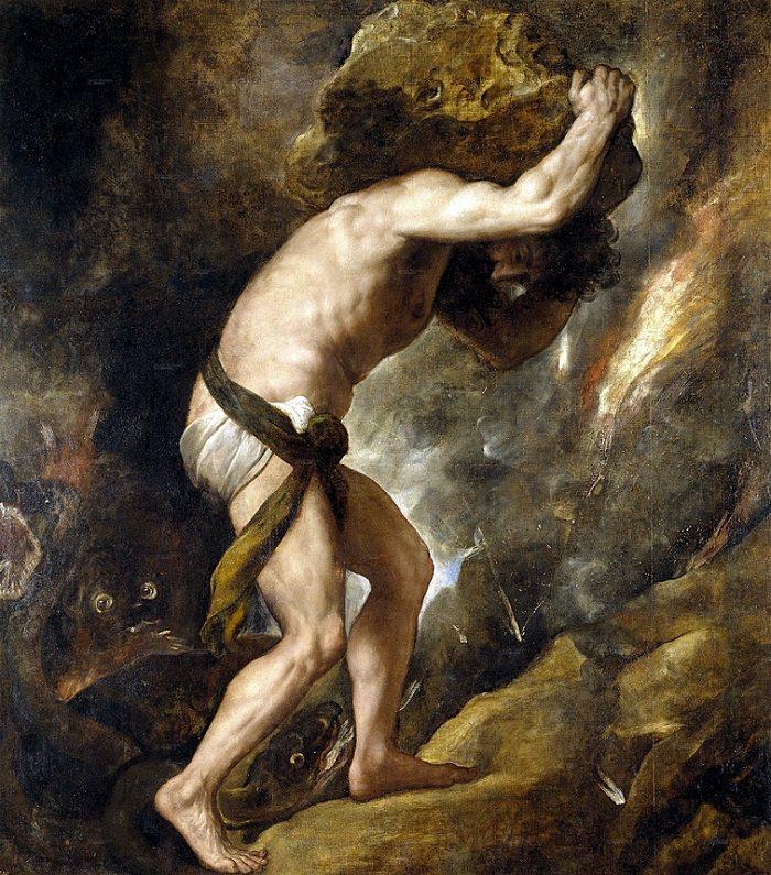 Sisyphus, Titian, 1548 - 1549