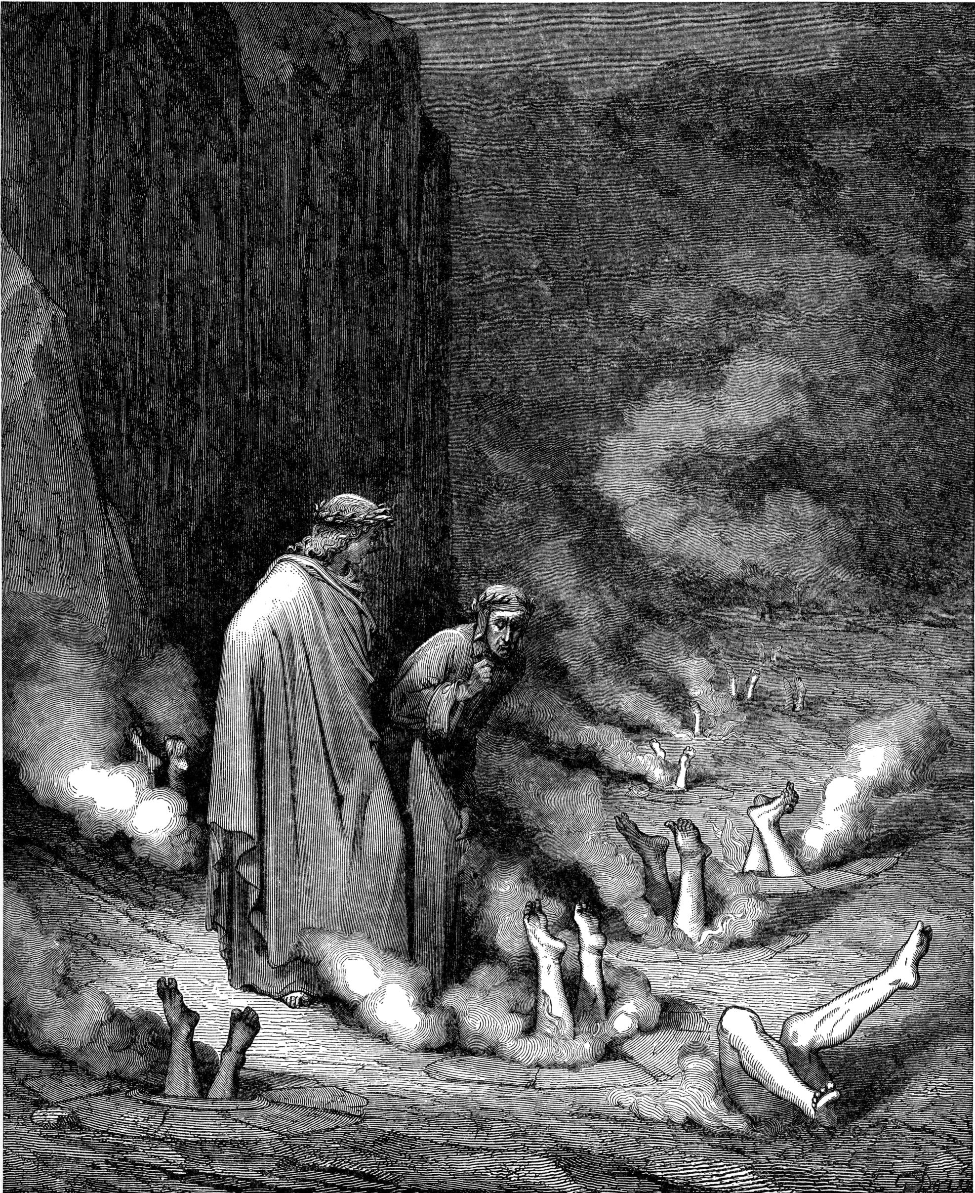 Picture from the series 'Divine Comedy', Gustave Doré
