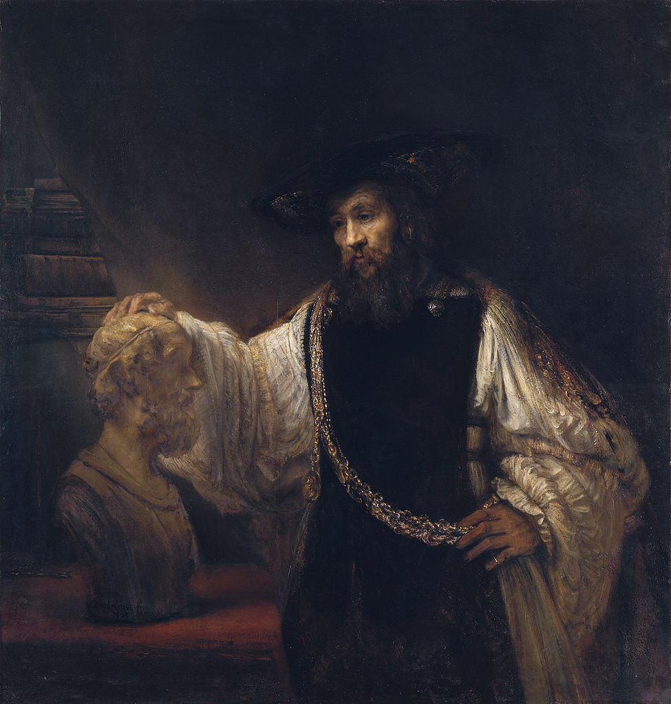 Aristotle with a Bust of Homer, Rembrandt, 1653