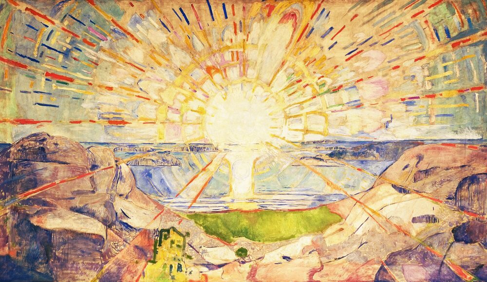 The Sun, Edvard Munch, 1909