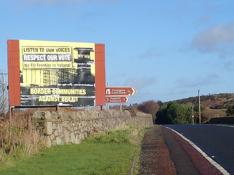 The Southern side of the Killeen Bridge Anti-Brexit Poster, by Eric Jones, 6 February 2019