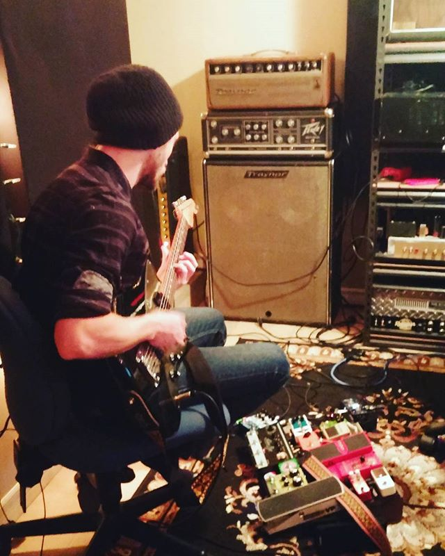 Andrew laying down some guitar for the new album!