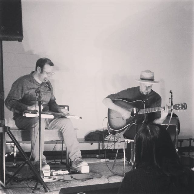 Beautiful sounds this eve from Bry Webb and Rich Burnett!