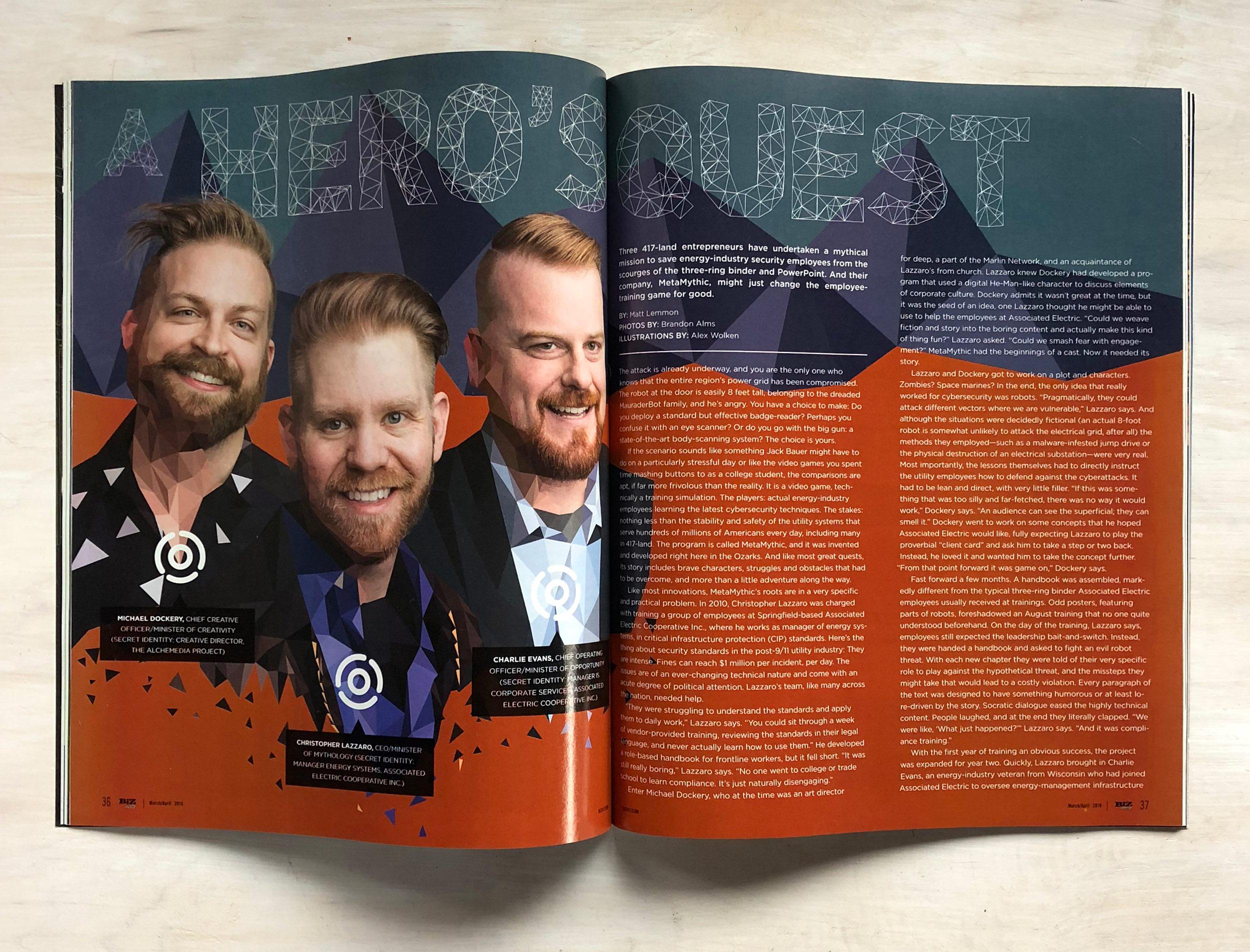Biz 417 Magazine Spread MetaMythic