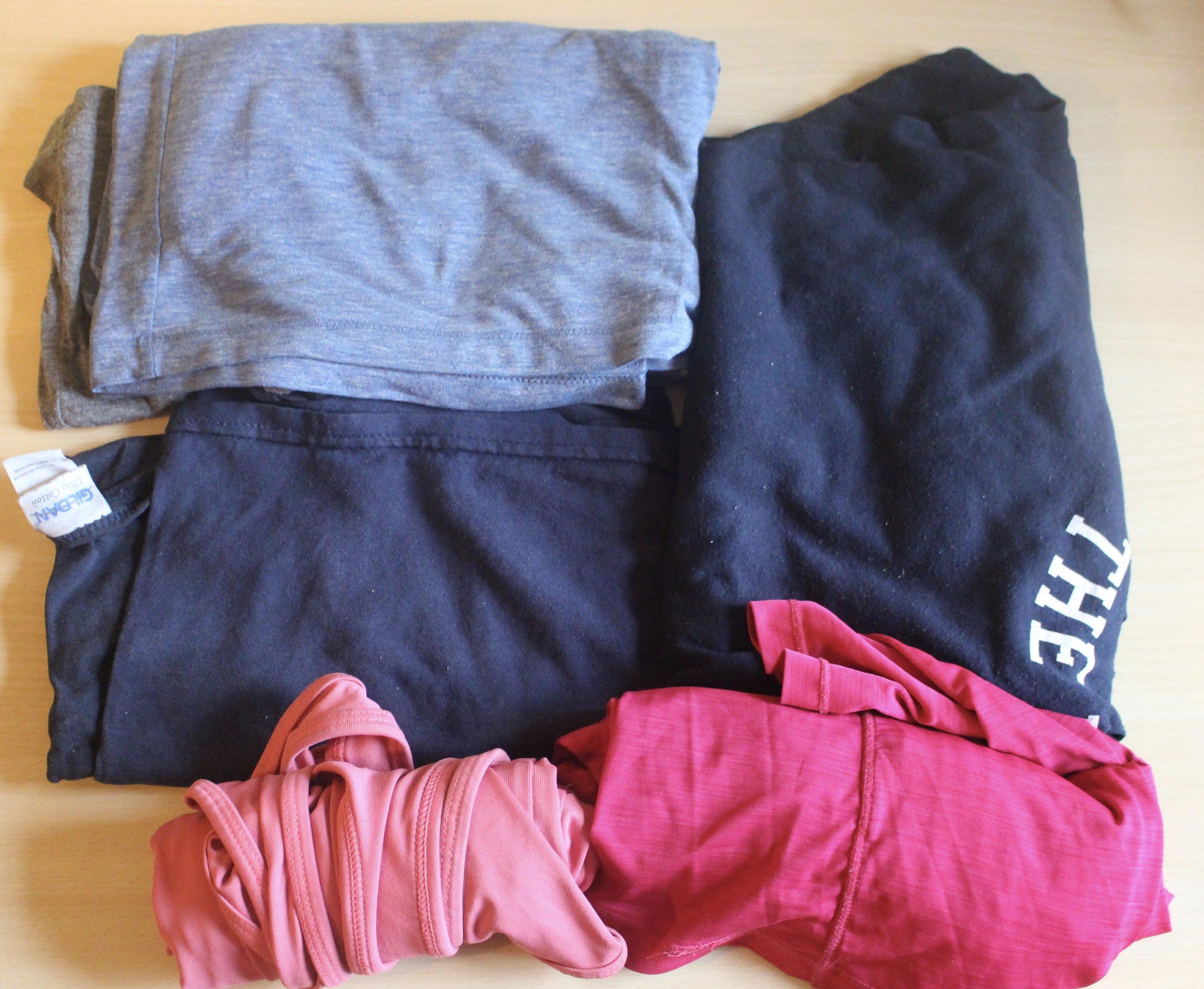 Shirts packing list