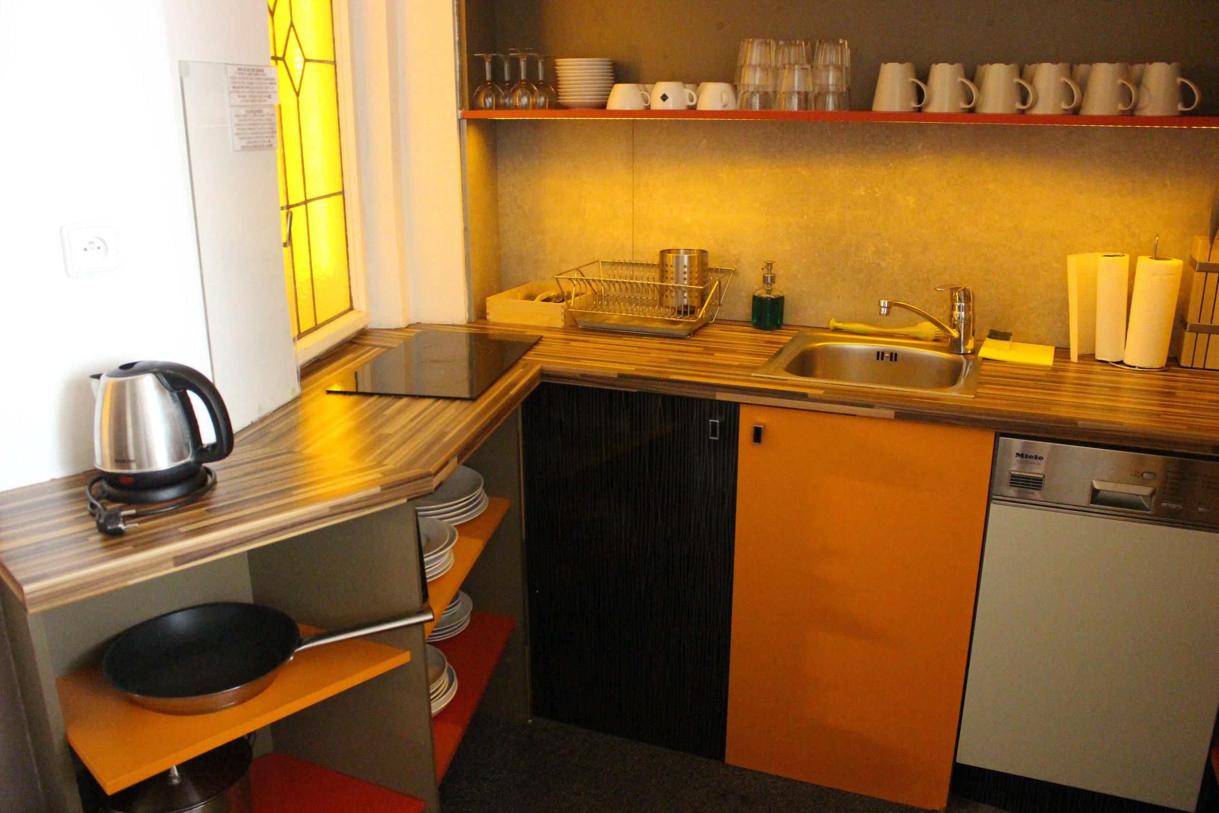 Kitchen at Jacob Brno Hostel