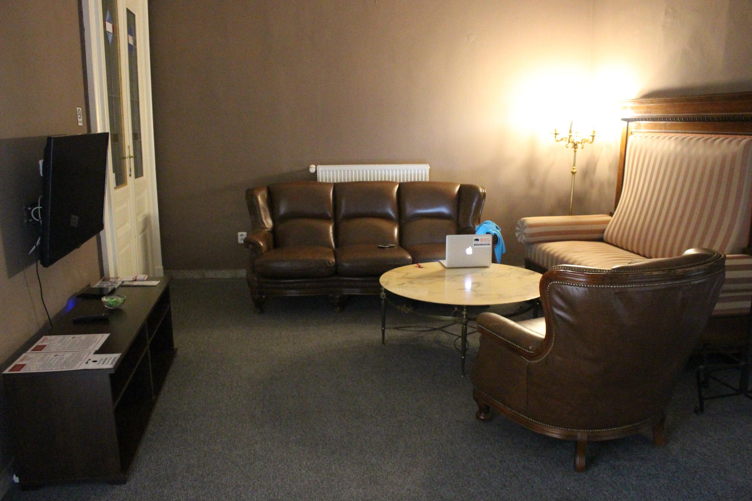 Living Room at Jacob Brno Hostel