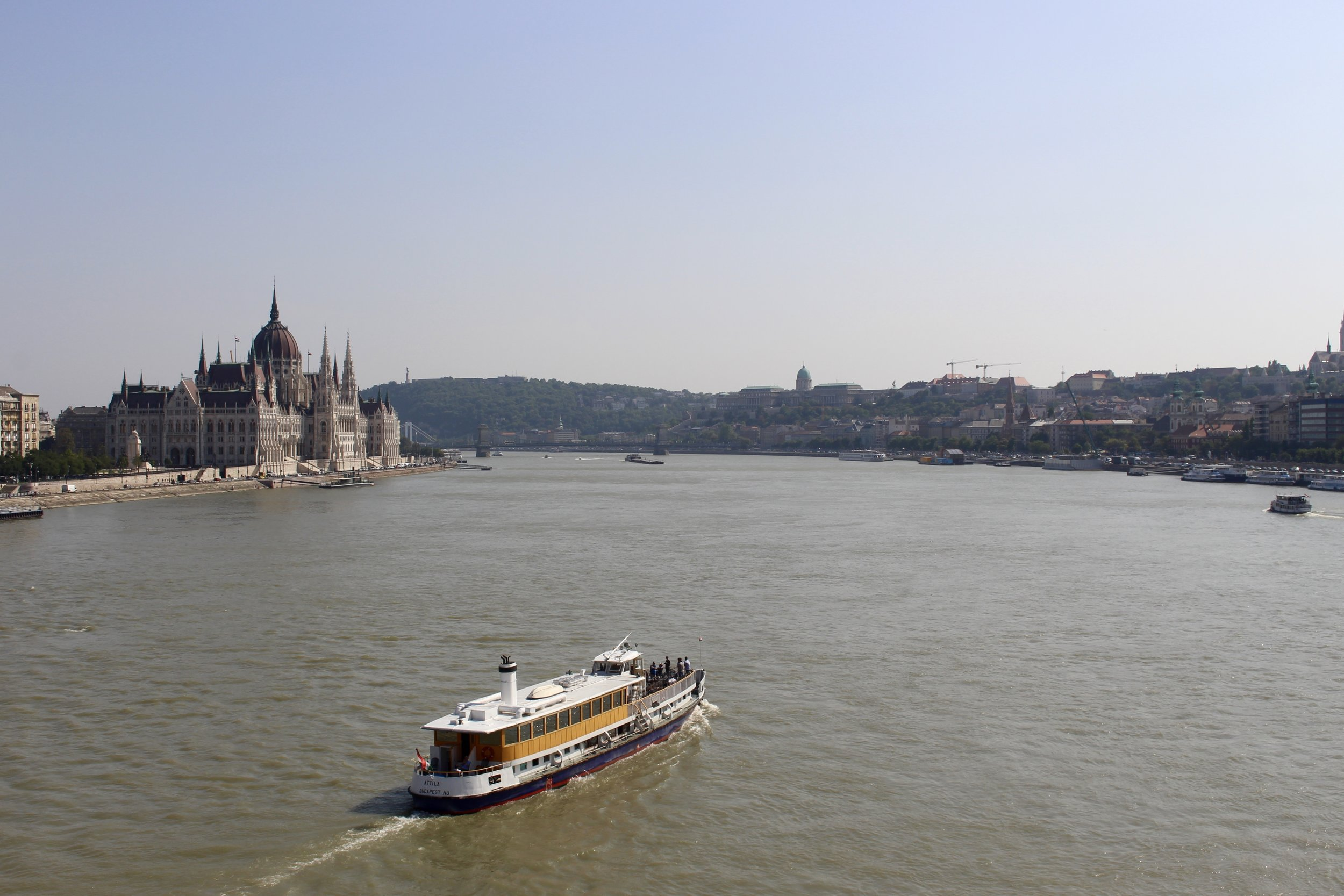 View of Budapest from Margrit Bridge