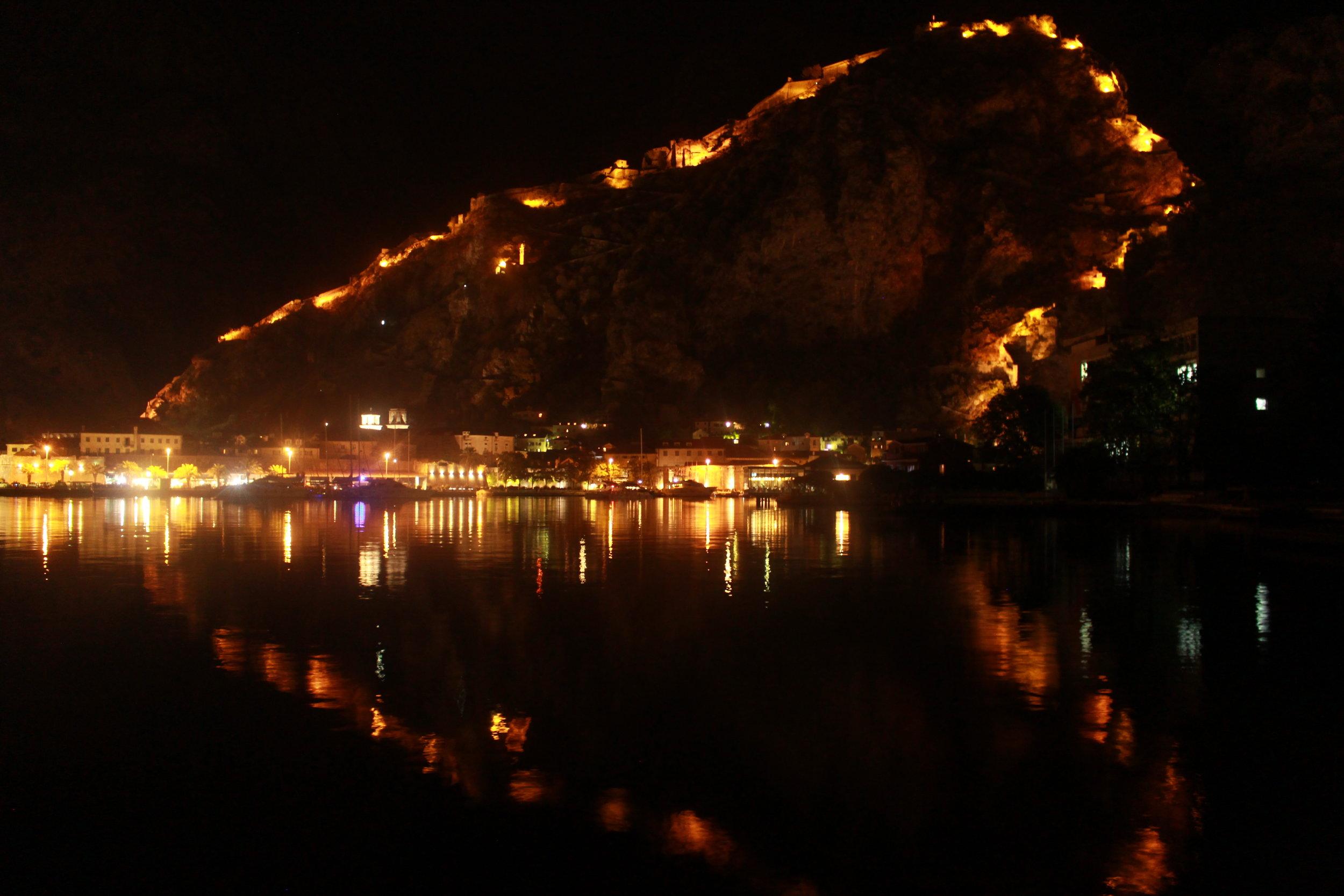 Kotor Fortress at Night