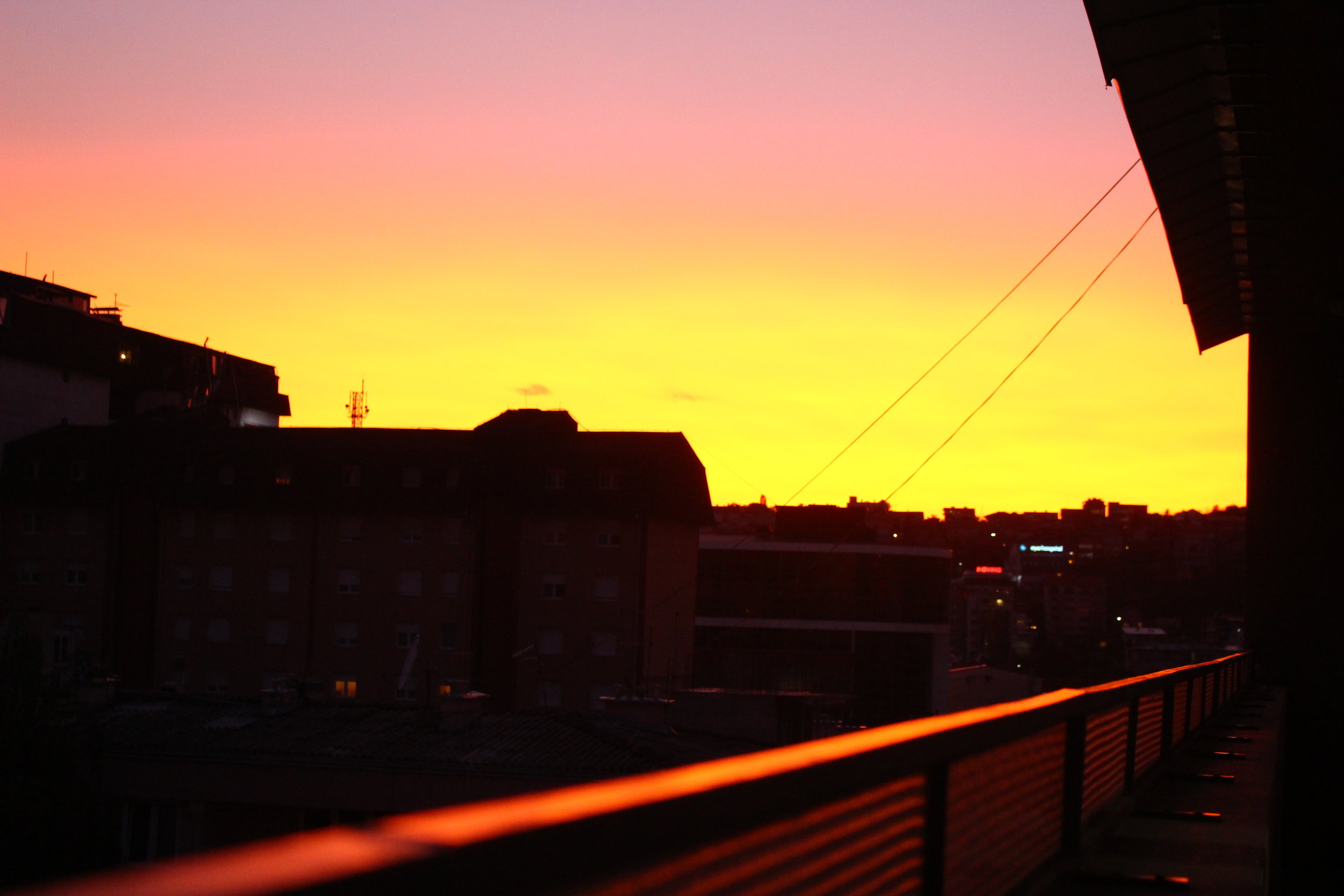 Sunset in Prishtina