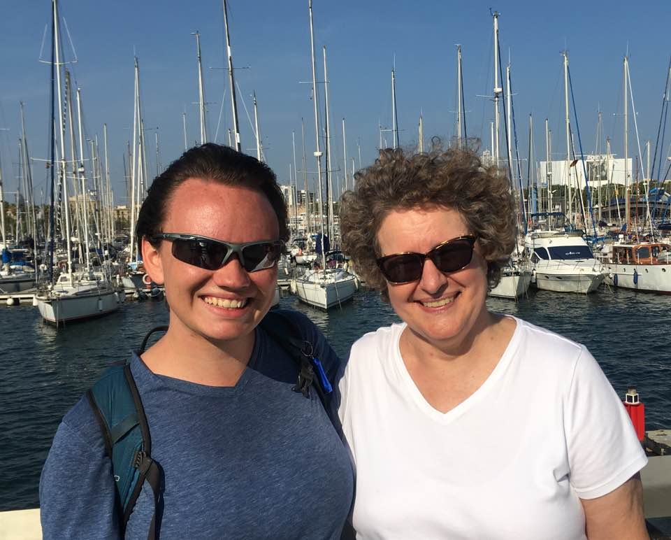 The Trans Traveller with their aunt in Barcelona