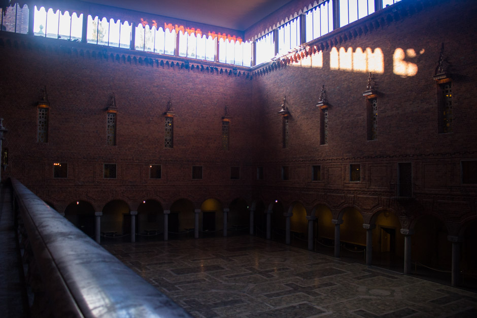 The Blue Hall in Stockholm City Hall