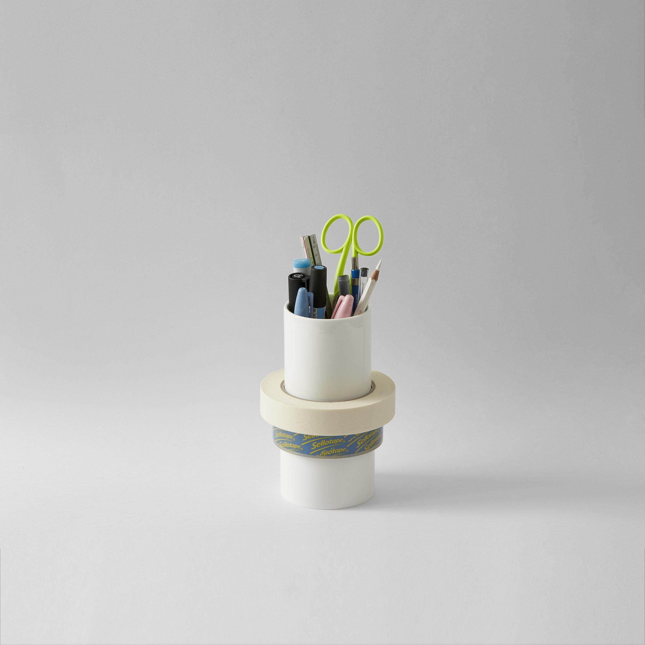 Tape Pot porcelain - Tape stacking & Dispensing£30.00