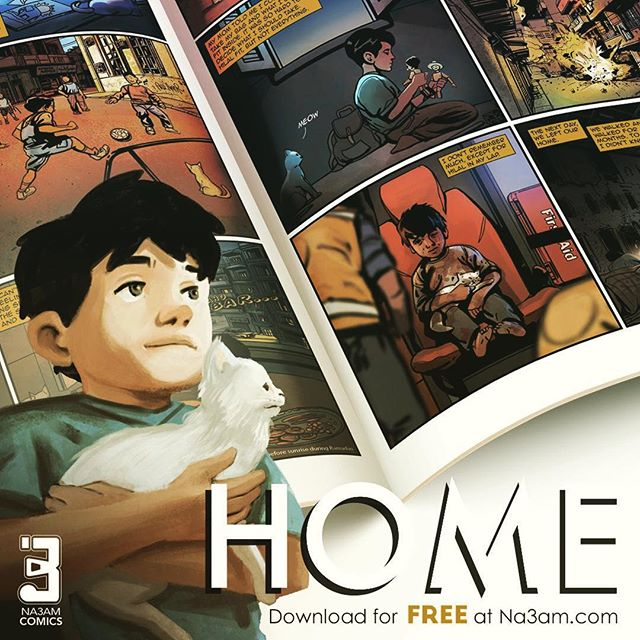It's Monday! And we have a great news for you! Say what?...YES, now you can download the HOME comic book on our website as a free PDF. let us know what you think. 💗 www.na3am.com  #homecomicbook #monday #fundaymonday #comicbooks  #comicart #comics #na3amcomics #comicbook #art #storytelling #refugees #na3am