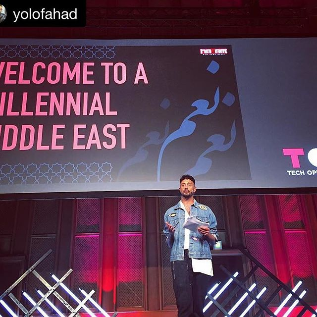 """Shout outs from our visionary... Thank you for all that you are -- for us! #Repost @yolofahad ・・・ It's been 3 years since my first speaking engagement at Tech Open Air in Berlin, a brilliant concept that speaks similarly to technology, youth and the arts. I'm grateful for the second opportunity to present a vision in action, and inspired by the mammoth developments since 2014. From company to Kingdom to an entire region, I discussed the many reasons why a """"millennial Middle East"""" is basically unstoppable; as a patron, and perhaps perceived antagonist, it's been my mission since graduation to merge the needs of our people with tech-based solutions, using #Facebook, #NA3AM, super heroines, start-up weekends, and now #Vision2030. Some of these solutions were once considered revolutionary, but today have led to quantum changes across my country and MENA in general. Through continued and creative youth empowerment of the Arab world, we also, in fact, empower the whole world: to enter and utilize a brand new era. One that is led by tech convergence within a globally interconnected economy. #Germany has witnessed the power in these varied synergies, so too has #SaudiArabia. Bridges have been built already, and we will continue to progressively cross them. Thank you @toaberlin, thank you @themostfamousartist @iamrozan, Niko, Jude, @wired @newarabmedia and the sea of supporters present today -- and everywhere 🇸🇦🇩🇪 #ArabiaToTheWorld #Saudi #Vision2030 #Tech #Youth #Arts #Future #MENA #Berlin #TOA #TechOpenAir"""