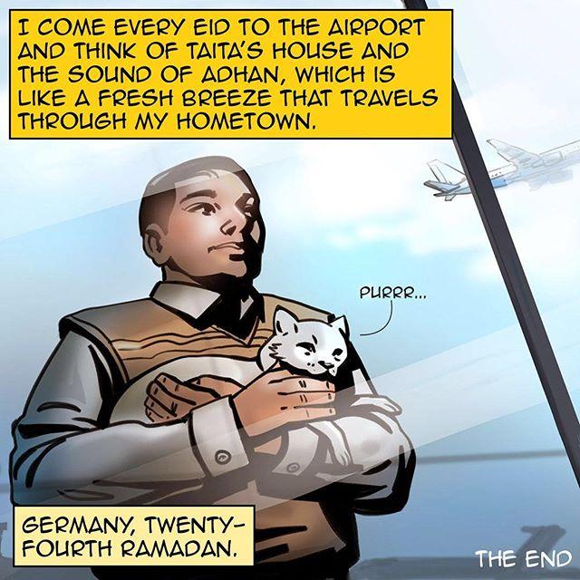 #homecomicbook #ramadan #ramadan2017 #na3am #comicbook #comics #comicbooks #comicarts #cat #talkingcat #refugees #kids #germany #berlin  #family #home  #رمضان  #شهر_رمضان  #رمضان_2017 #رمضان_كريم #رمضانيات#