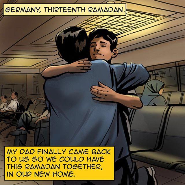 #homecomicbook #ramadan #ramadan2017 #na3am #comicbook #comics #comicbooks #comicarts  #refugees #kids #germany #berlin  #family #رمضان  #شهر_رمضان  #رمضان_2017 #رمضان_كريم #رمضانيات#
