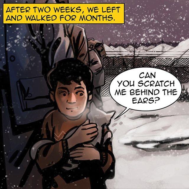 #homecomicbook #ramadan #ramadan2017 #na3am #comicbook #comics #comicbooks #comicarts #cat #talkingcat #refugees #kids #refuggecamp #winter #snow #رمضان  #شهر_رمضان  #رمضان_2017 #رمضان_كريم #رمضانيات#