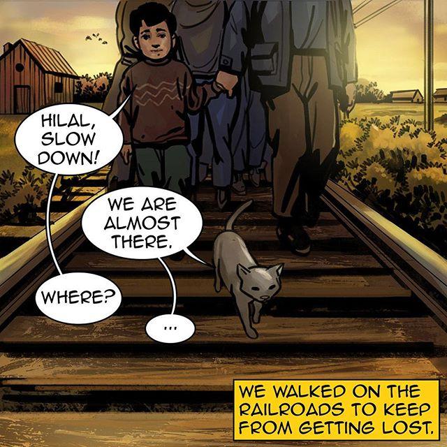 #homecomicbook #ramadan #ramadan2017 #na3am #comicbook #comics #comicbooks #comicarts #cat #talkingcat #refugees #kids #refuggecamp #railway  #رمضان  #شهر_رمضان  #رمضان_2017 #رمضان_كريم #رمضانيات#