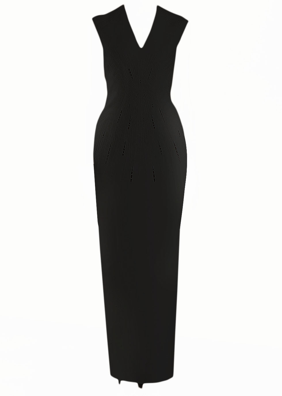 Classic Embroidery long gown-black-image.jpg